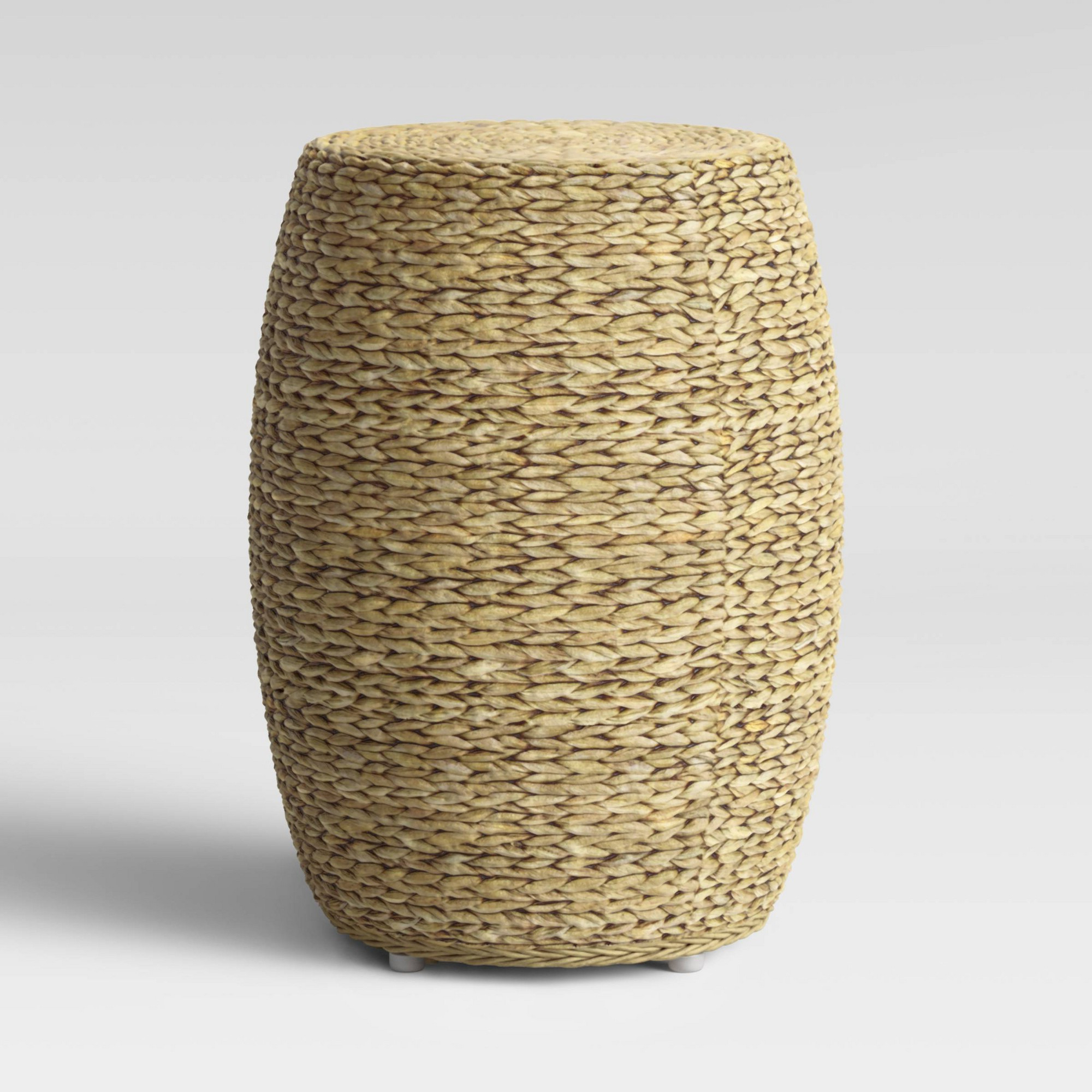 Kelston Ceramic Garden Stools Pertaining To Fashionable Durham Round Woven Accent Table Natural Brown – Threshold – Target (View 28 of 30)