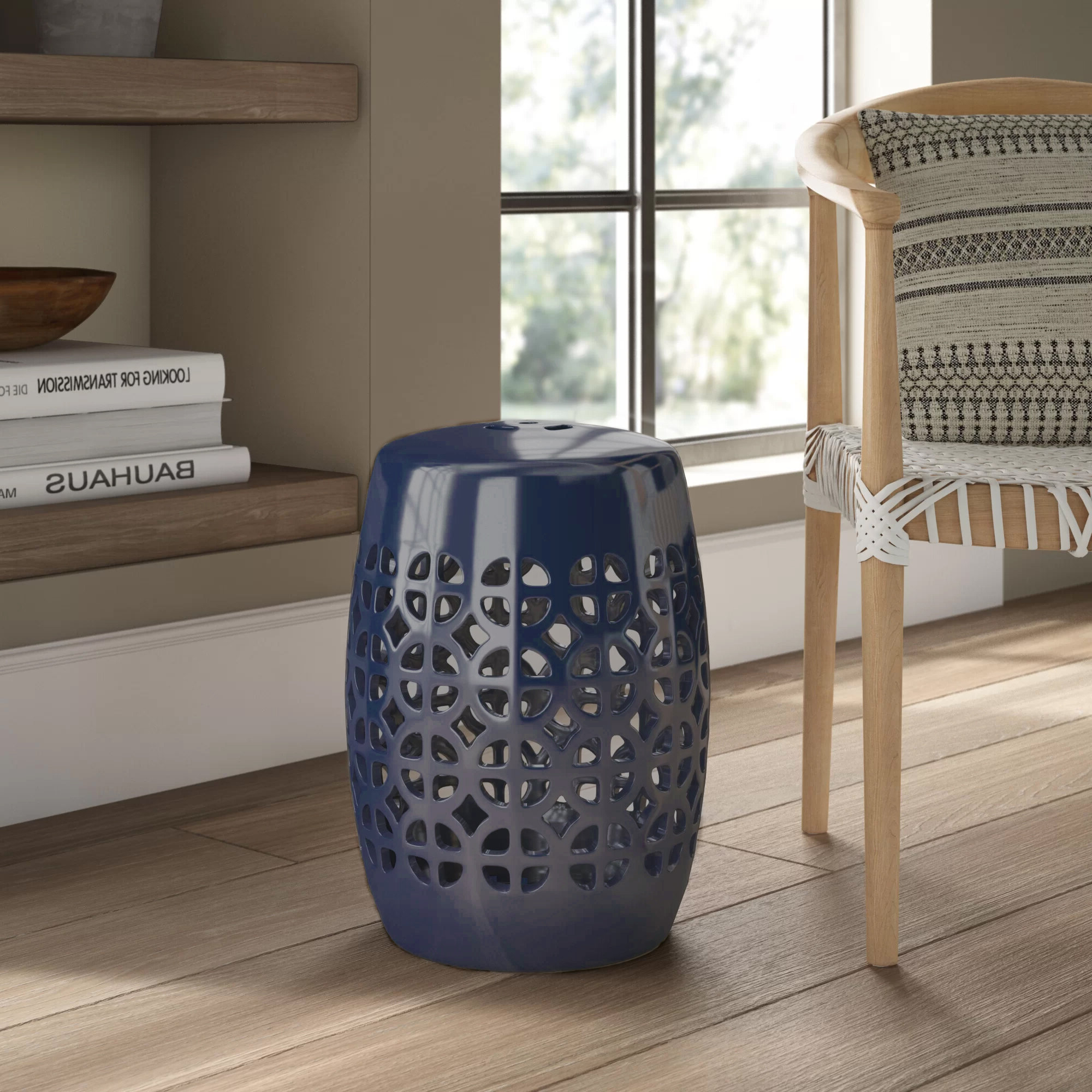 Keswick Ceramic Garden Stool Throughout 2019 Tillia Ceramic Garden Stools (View 12 of 30)