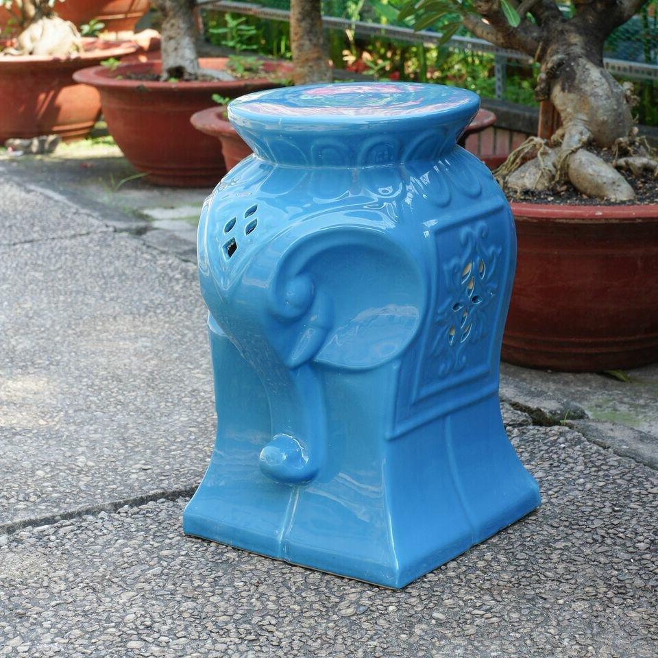 Keswick Ceramic Garden Stools Intended For Most Popular Burleson Elephant Ceramic Garden Stool (View 20 of 30)