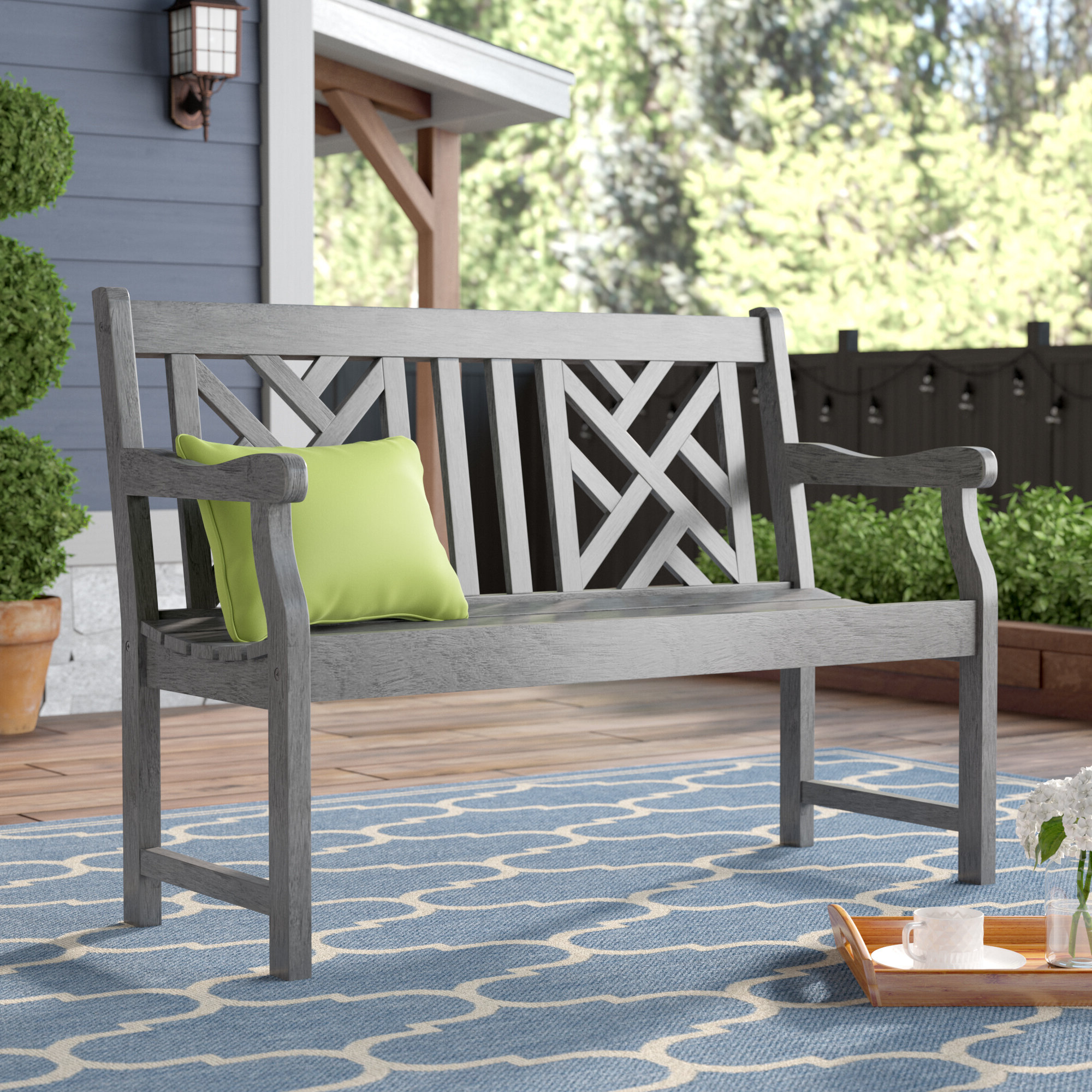 Krystal Ergonomic Metal Garden Benches Throughout Recent Outdoor Benches You'll Love In  (View 4 of 30)
