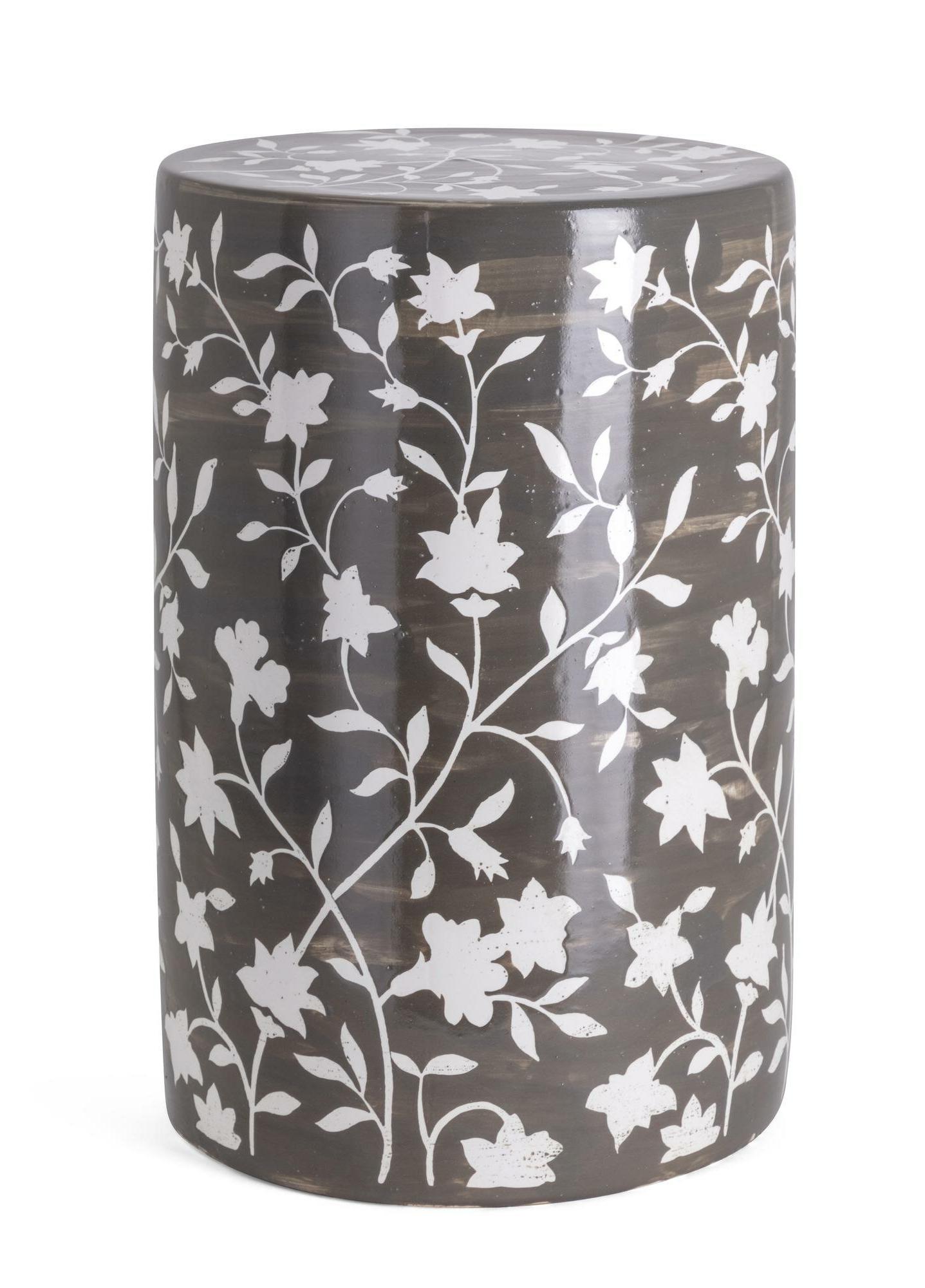 Kuhnhenn Handpainted Garden Stool With Regard To Trendy Murphy Ceramic Garden Stools (View 9 of 30)