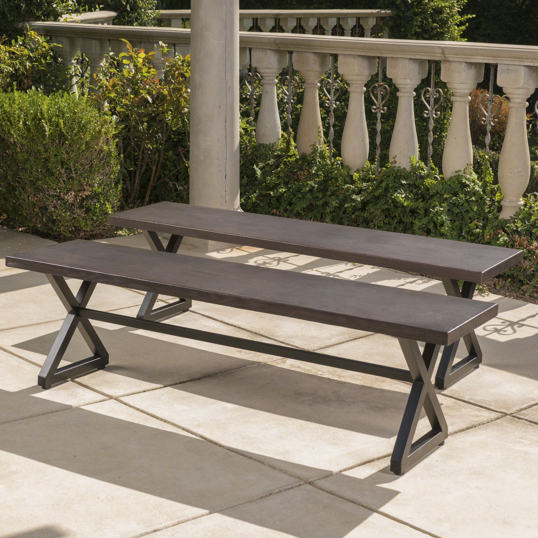 Lal Outdoor Aluminum Picnic Bench With Regard To 2019 Guyapi Garden Benches (View 17 of 30)
