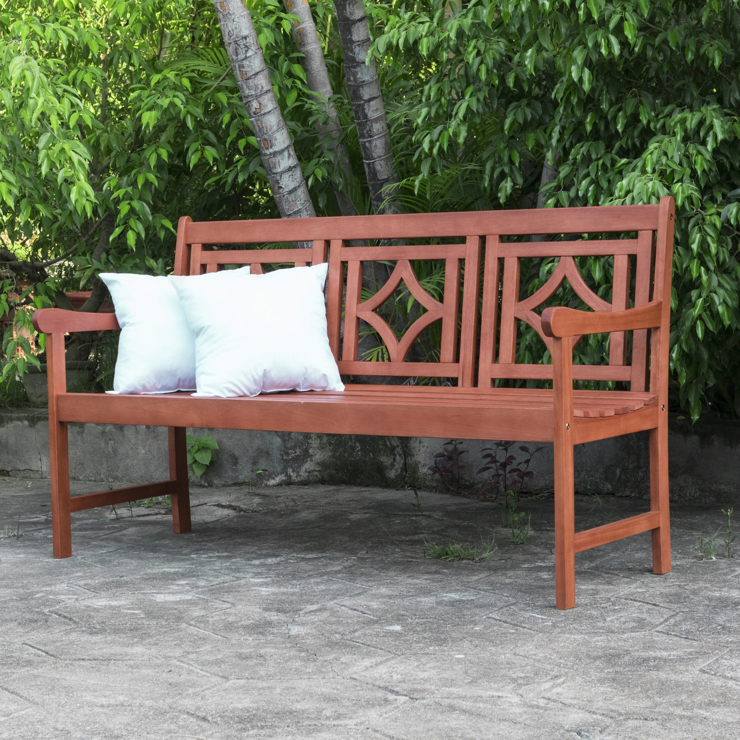 Featured Photo of Amabel Patio Diamond Wooden Garden Benches