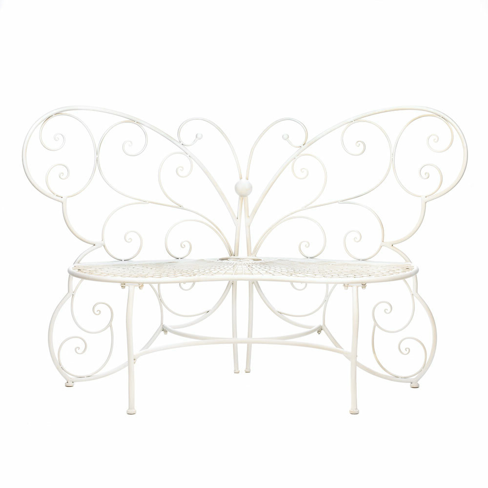 Latest Charlee Butterfly Bench Intended For Caryn Colored Butterflies Metal Garden Benches (View 26 of 30)