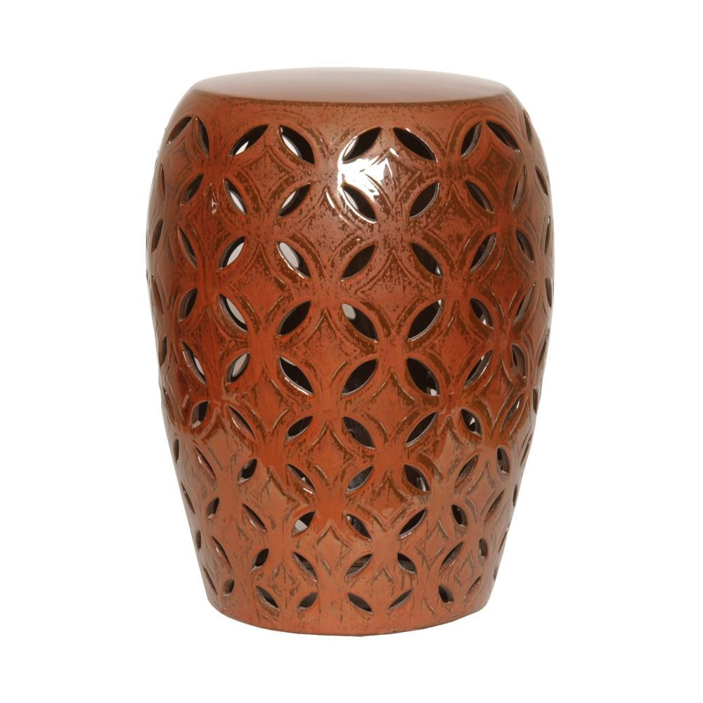 Latest Copper Lattice Garden Stool – Seven Colonial (View 7 of 30)