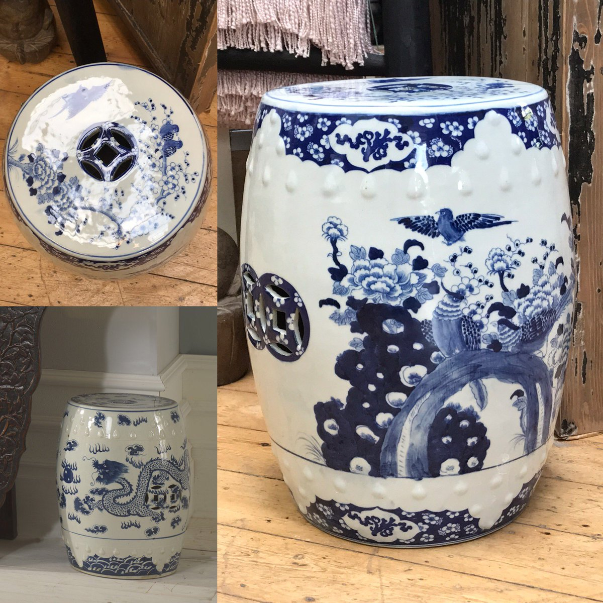 """Latest Dragon Garden Stools With Shimu Furniture On Twitter: """"our Popular Blue And White (View 23 of 30)"""