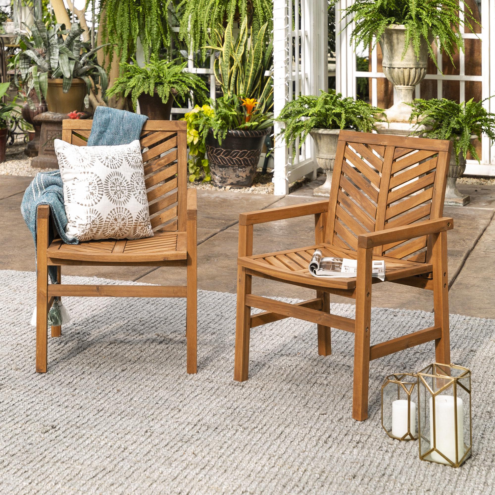 Latest Skoog Chevron Wooden Garden Benches In Skoog Chevron Patio Dining Chair (View 8 of 30)