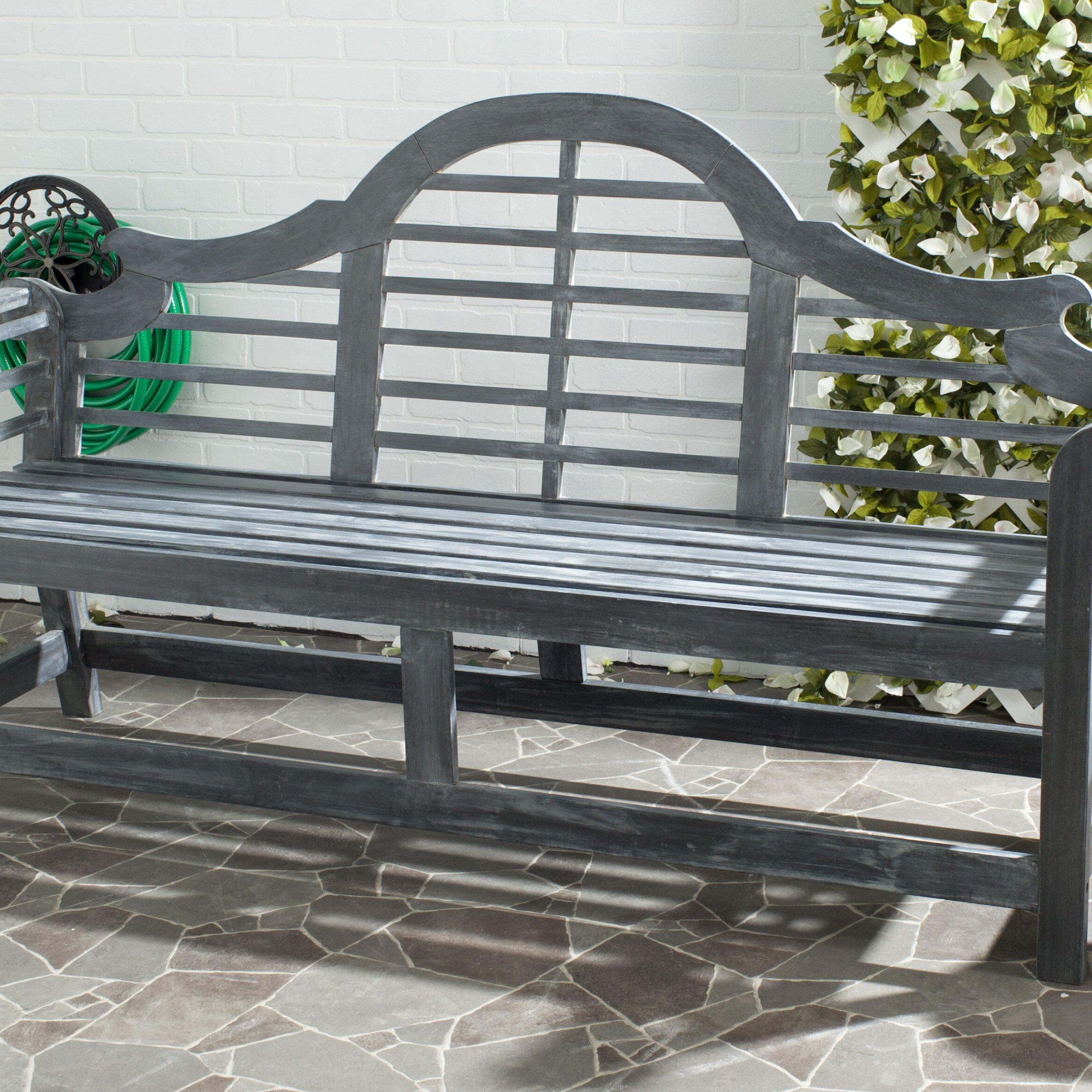 Lemire Iron Garden Bench Within Most Recently Released Strasburg Blossoming Decorative Iron Garden Benches (View 5 of 30)
