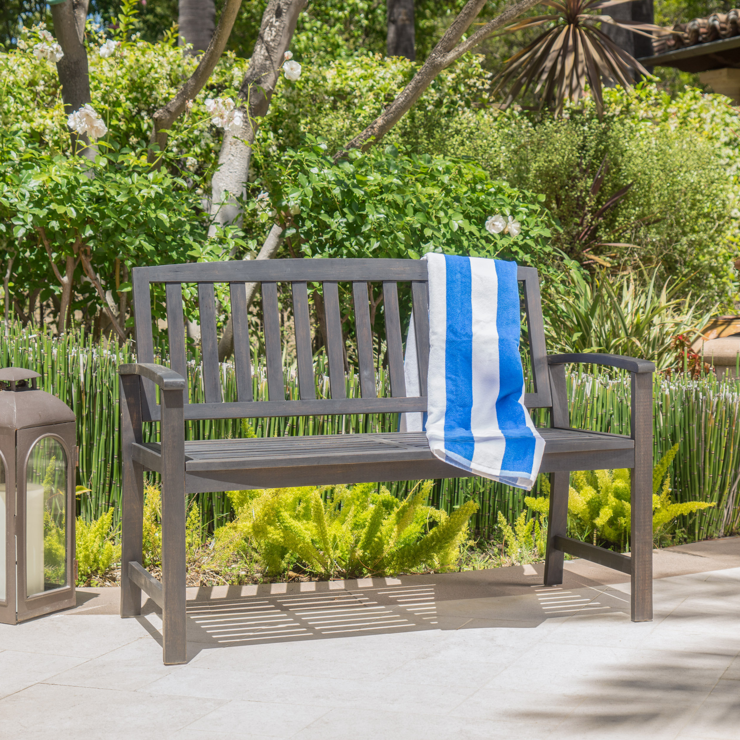 Lucille Timberland Wooden Garden Benches In Most Up To Date Zephyrine Patio Dining Wooden Picnic Bench (View 14 of 30)