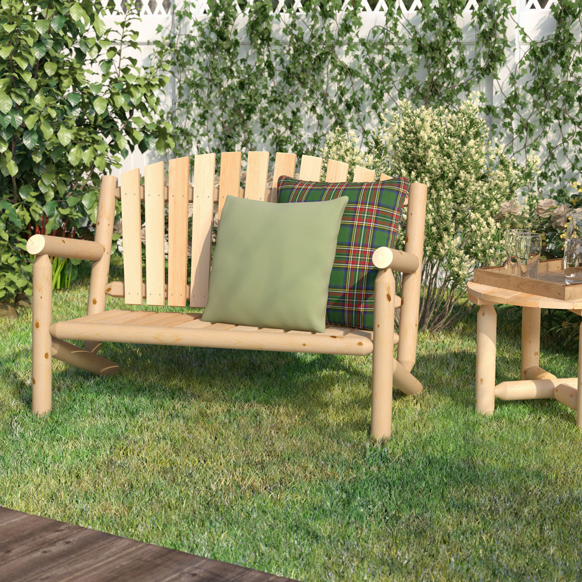 Lucille Timberland Wooden Garden Benches Within 2020 Back Included Loon Peak® Wood Benches You'll Love In (View 7 of 30)