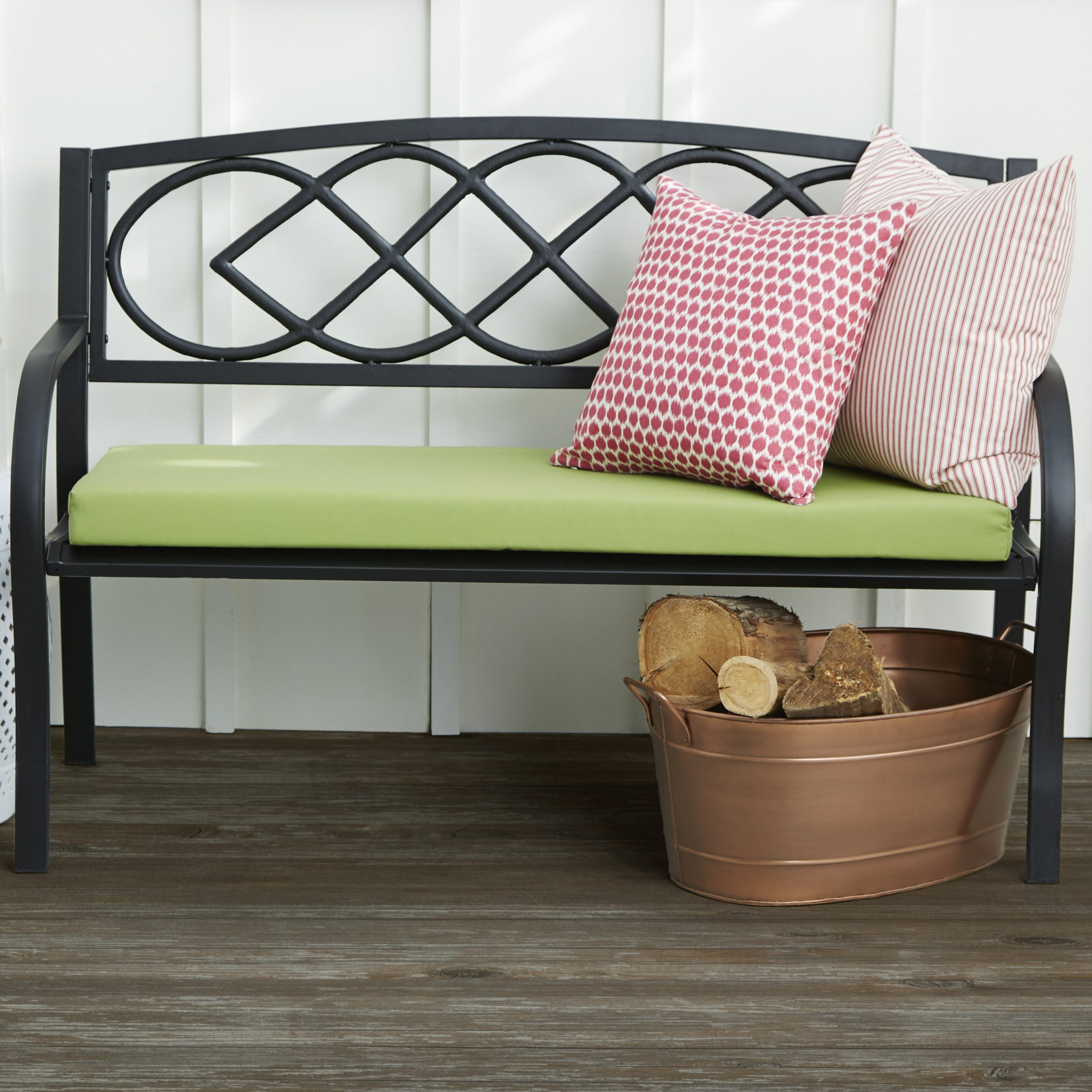Madeline Vintage Bird Cast Iron Garden Benches With Well Known Celtic Knot Iron Garden Bench (View 4 of 30)
