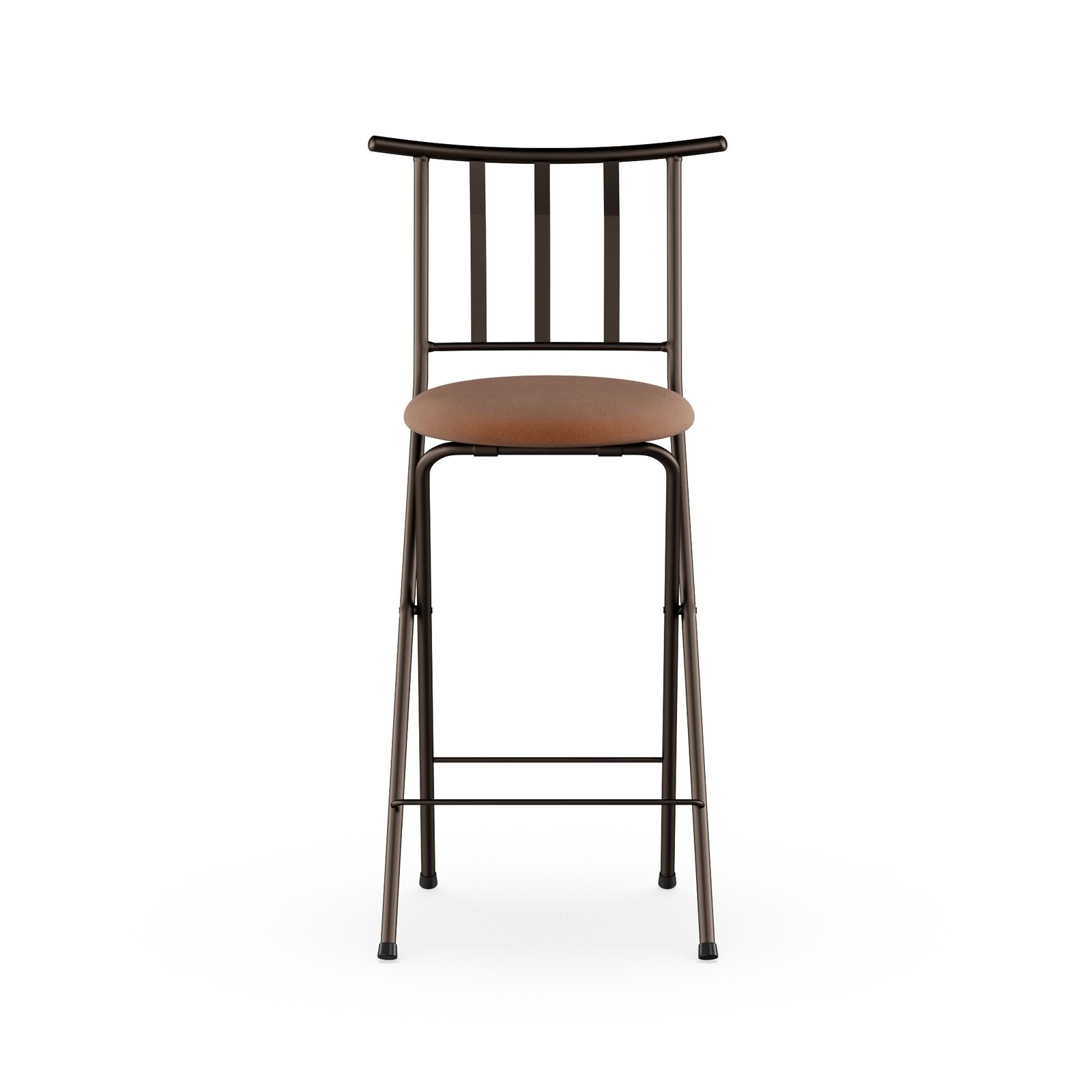 "Mainstays Slat Back Folding 30"" Bronze Bar Stool Multiple Colors Pertaining To Latest Tillia Ceramic Garden Stools (View 29 of 30)"