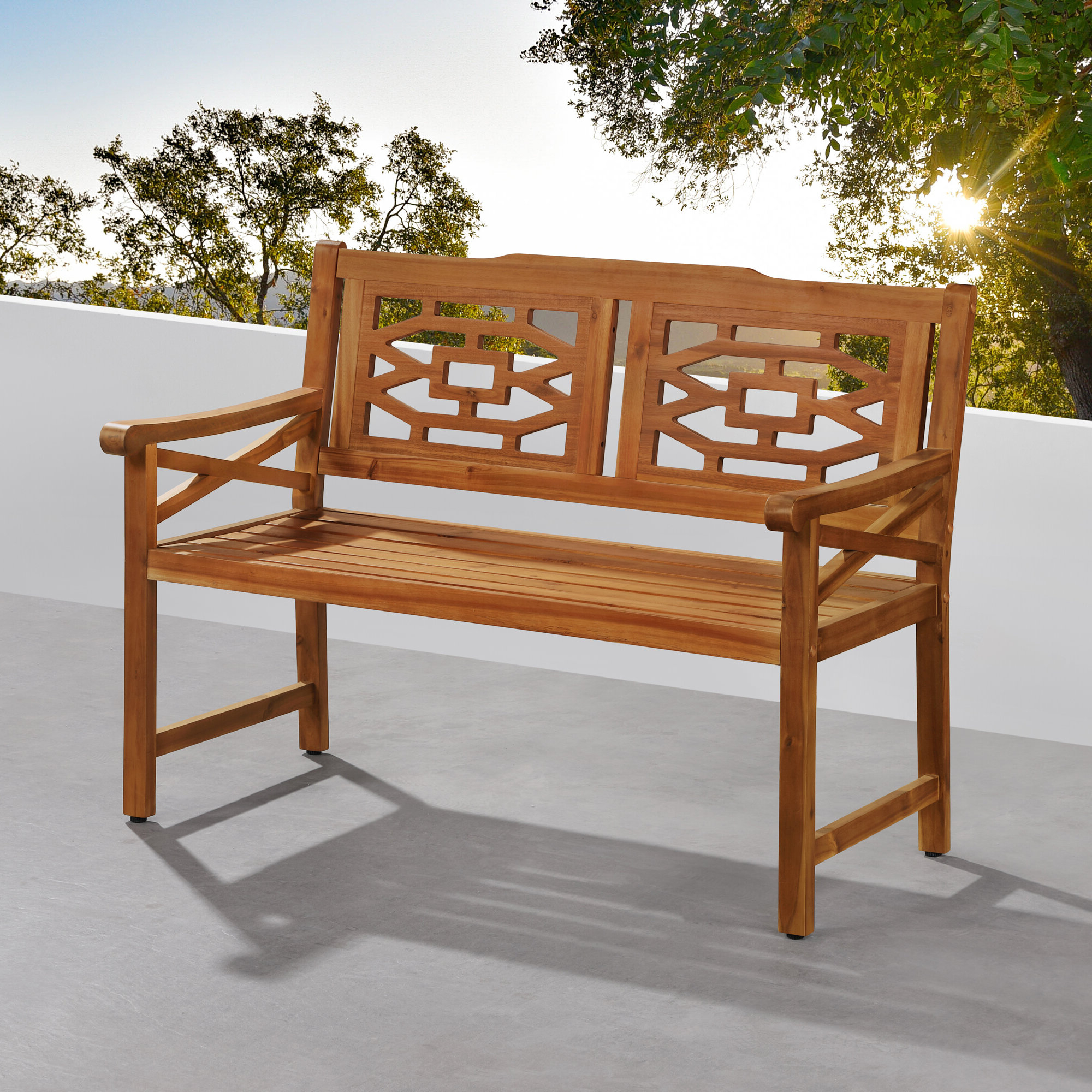 Malay Wooden Garden Bench Pertaining To Most Popular Amabel Patio Diamond Wooden Garden Benches (View 13 of 30)
