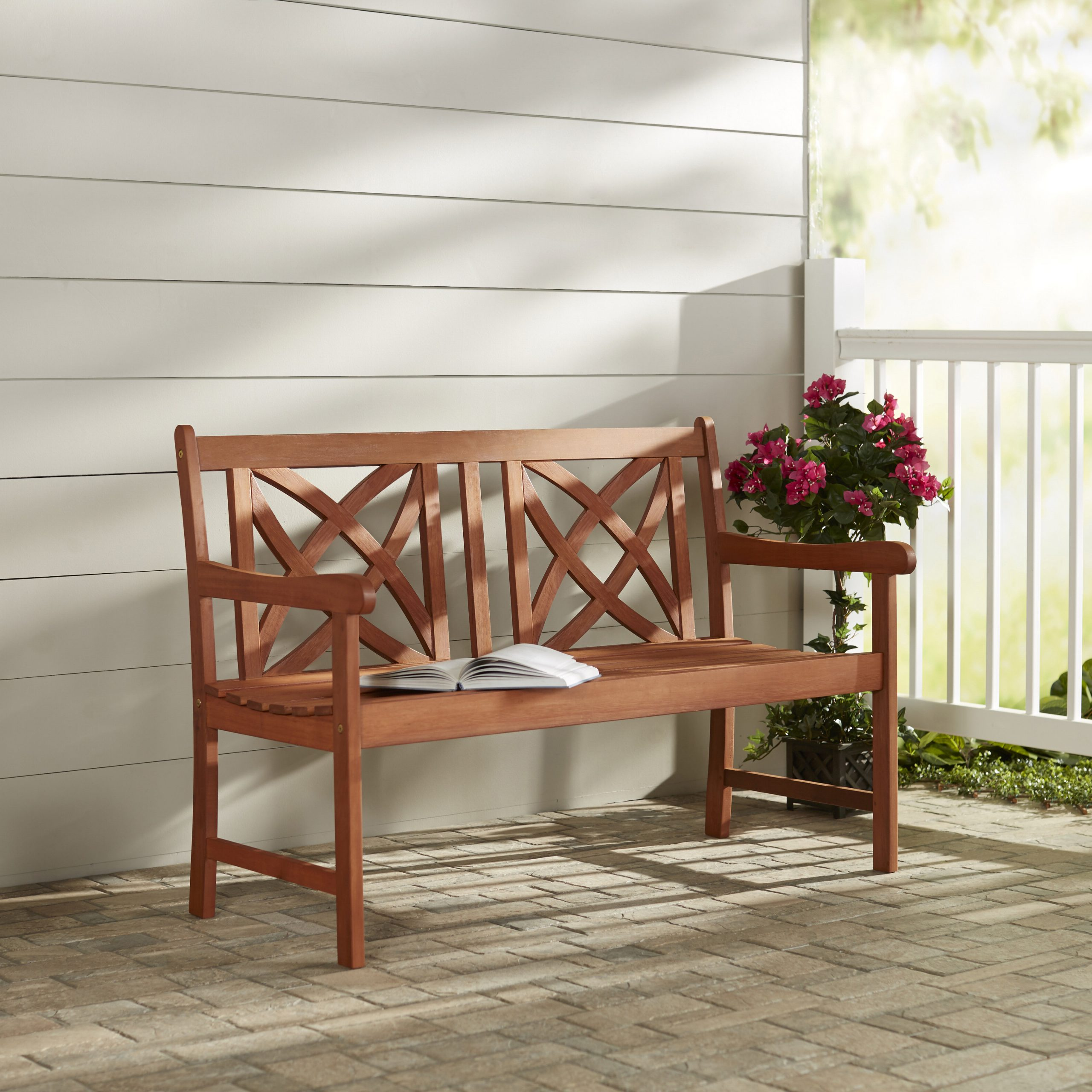 Maliyah Wooden Garden Bench Pertaining To Trendy Manchester Solid Wood Garden Benches (View 10 of 30)