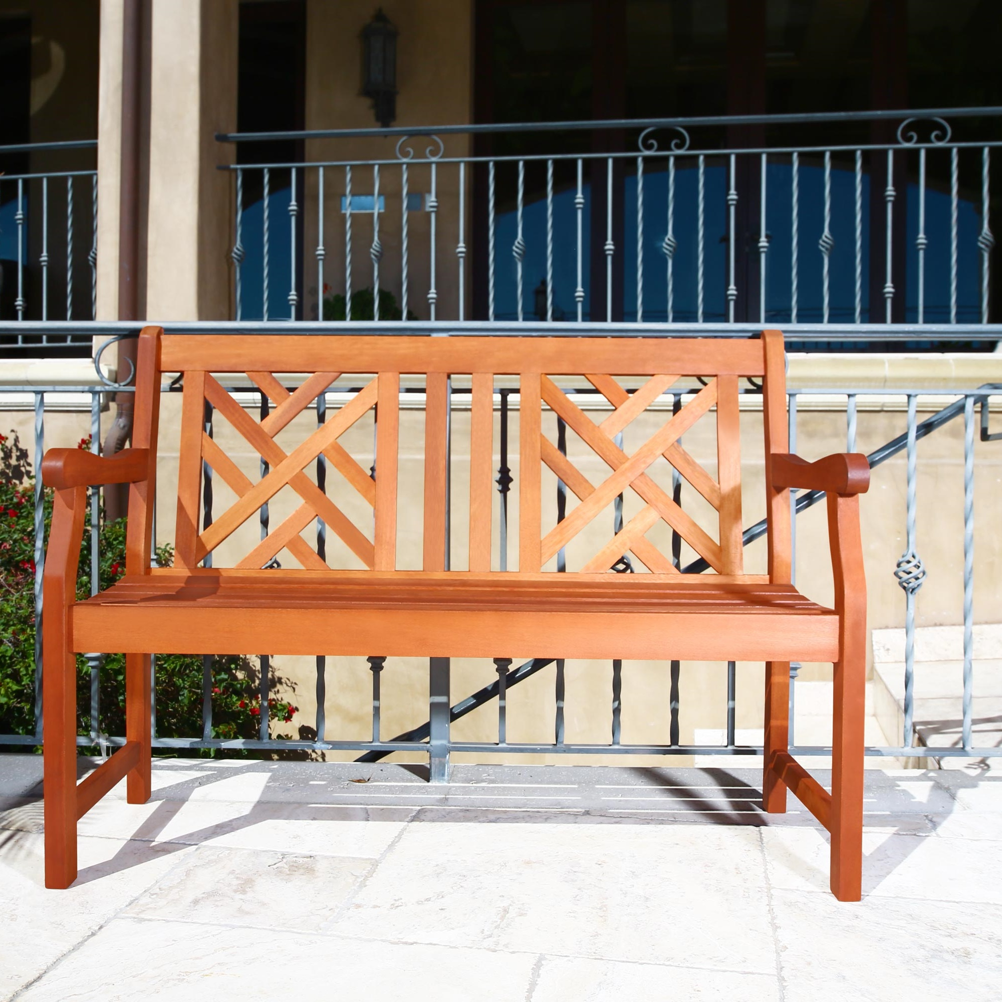 Maliyah Wooden Garden Benches With Regard To Widely Used Malibu Outdoor Patio 4 Foot Wood Garden Bench (View 25 of 30)