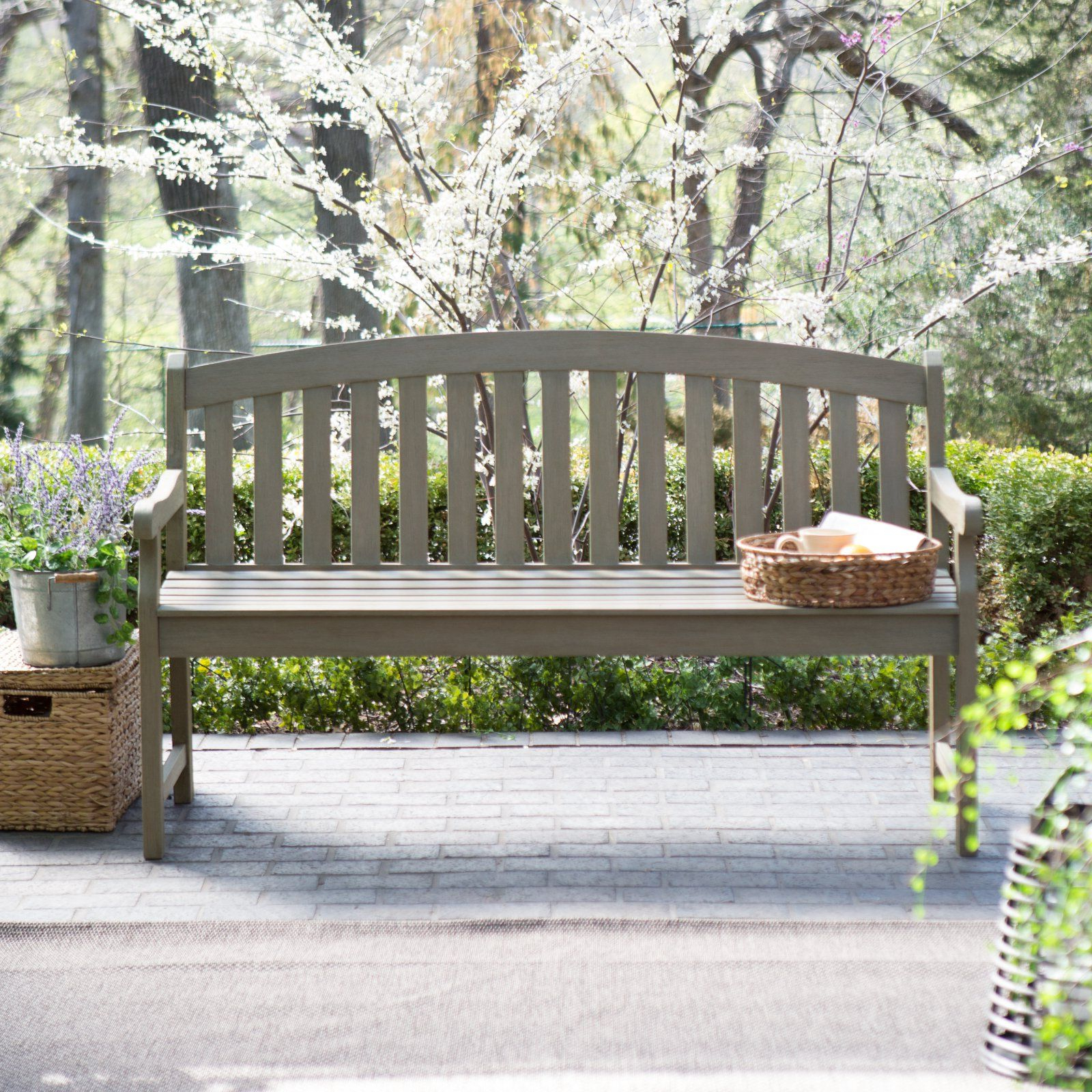 Manchester Solid Wood Garden Benches Intended For Preferred Coral Coast Amherst Curved Back 5 Ft (View 12 of 30)