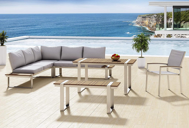 Messina Garden Stools Set (set Of 2) Intended For Recent Aiser Royal Garden Lounge Set Sansibar Luxury Dining Table (View 23 of 30)