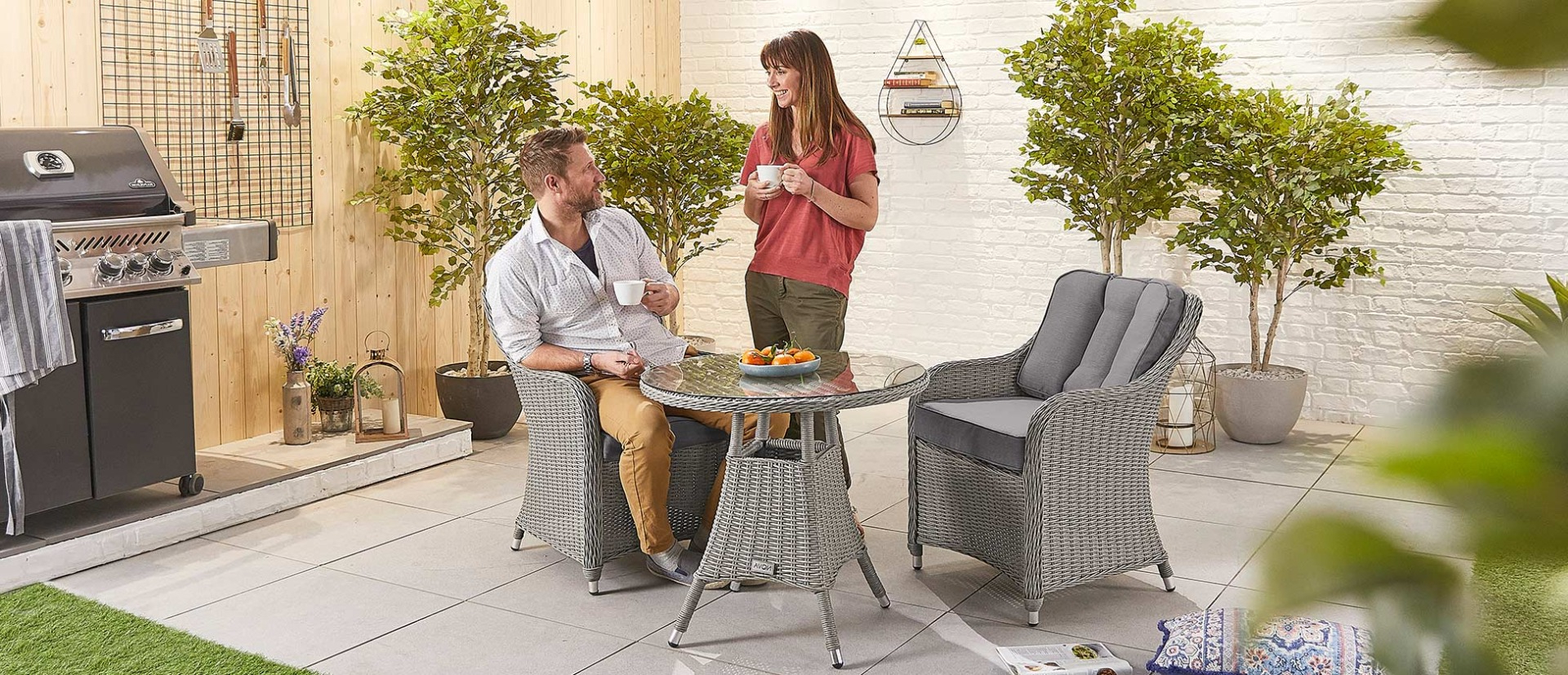Messina Garden Stools Set (set Of 2) Intended For Trendy Amelia 2 Seat Bistro Set – 75cm Round Table (View 22 of 30)