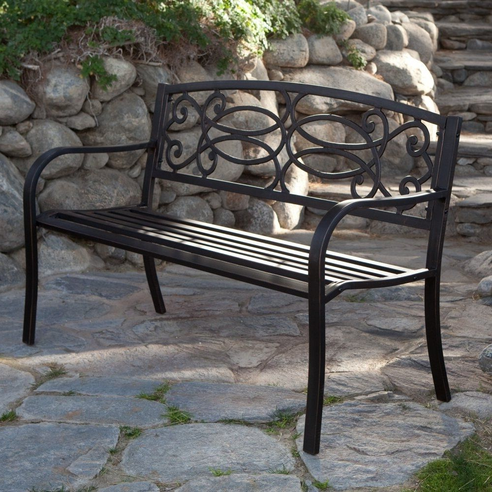 Metal With Maliyah Wooden Garden Benches (View 26 of 30)