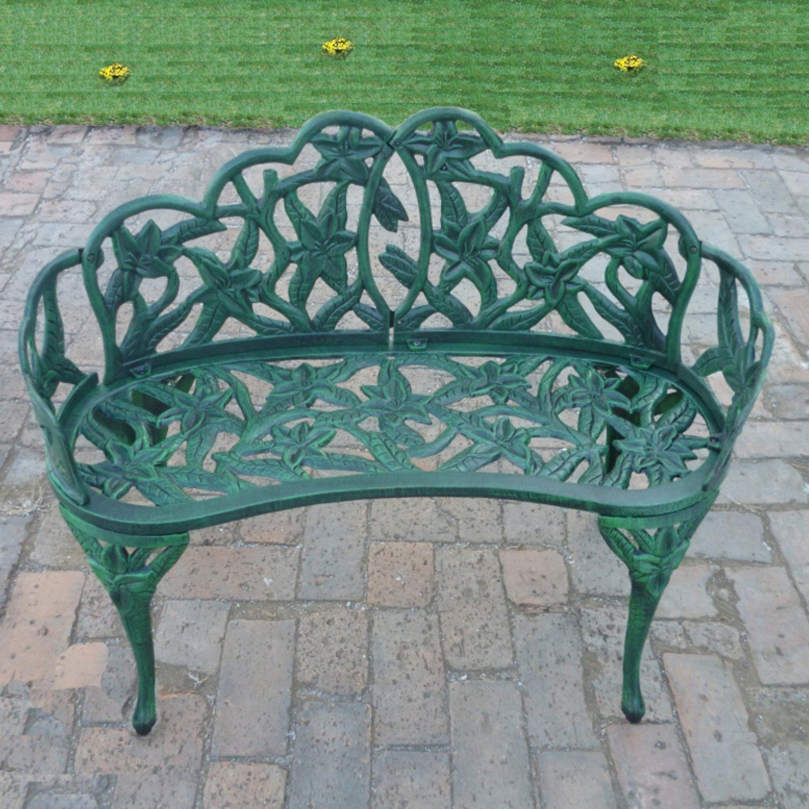 Montezuma Cast Aluminum Garden Benches With Regard To Well Known Pin On Yard Stuff (View 11 of 30)