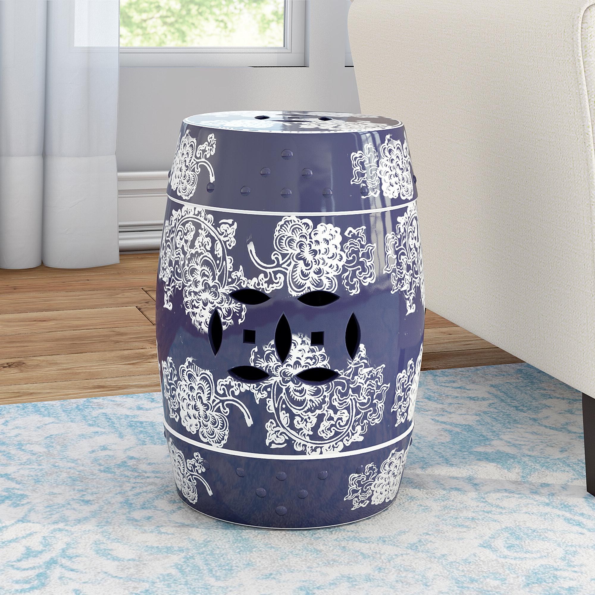 Morgan Ceramic Garden Stool Inside Popular Murphy Ceramic Garden Stools (View 30 of 30)