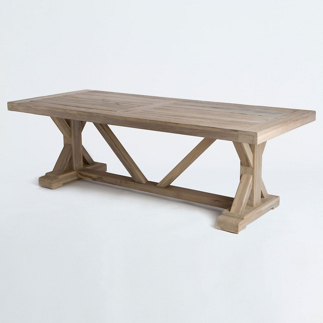 Most Current Brecken Teak Garden Benches With Trestle Teak Dining Table (View 18 of 30)