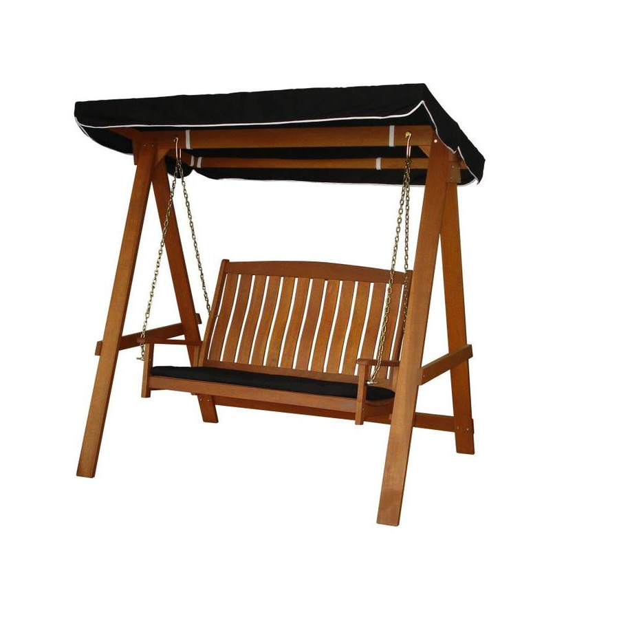 Most Current Lautan Avoca 2 Person Natural Shorea Outdoor Swing Pertaining To Avoca Wood Garden Benches (View 15 of 30)