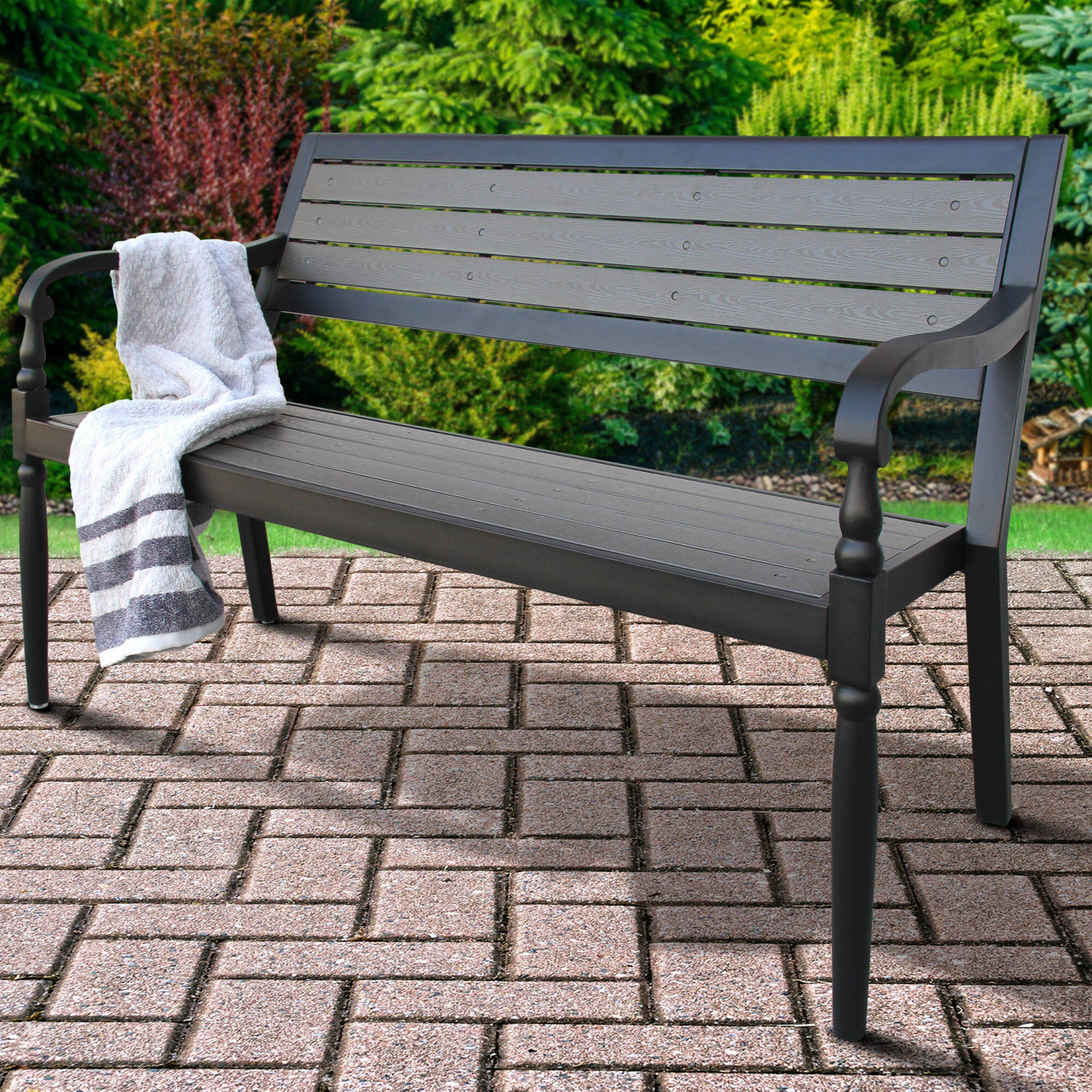 Most Current Montezuma Cast Aluminum Garden Benches With Regard To Deaux Metal Garden Bench (View 21 of 30)