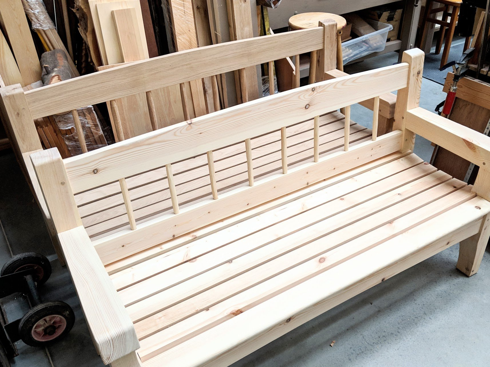 Most Current Pauls Steel Garden Benches With The Bench In My Garden – Paul Sellers' Blog (View 2 of 30)