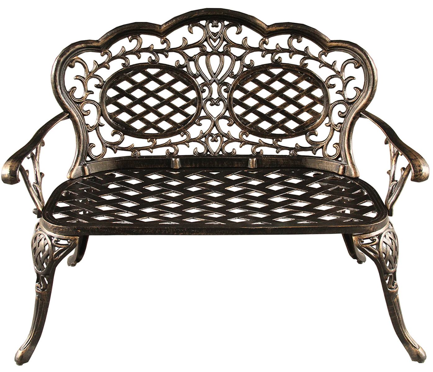 Most Current Rockwell Ornate Traditional Metal Garden Bench With Regard To Montezuma Cast Aluminum Garden Benches (View 10 of 30)