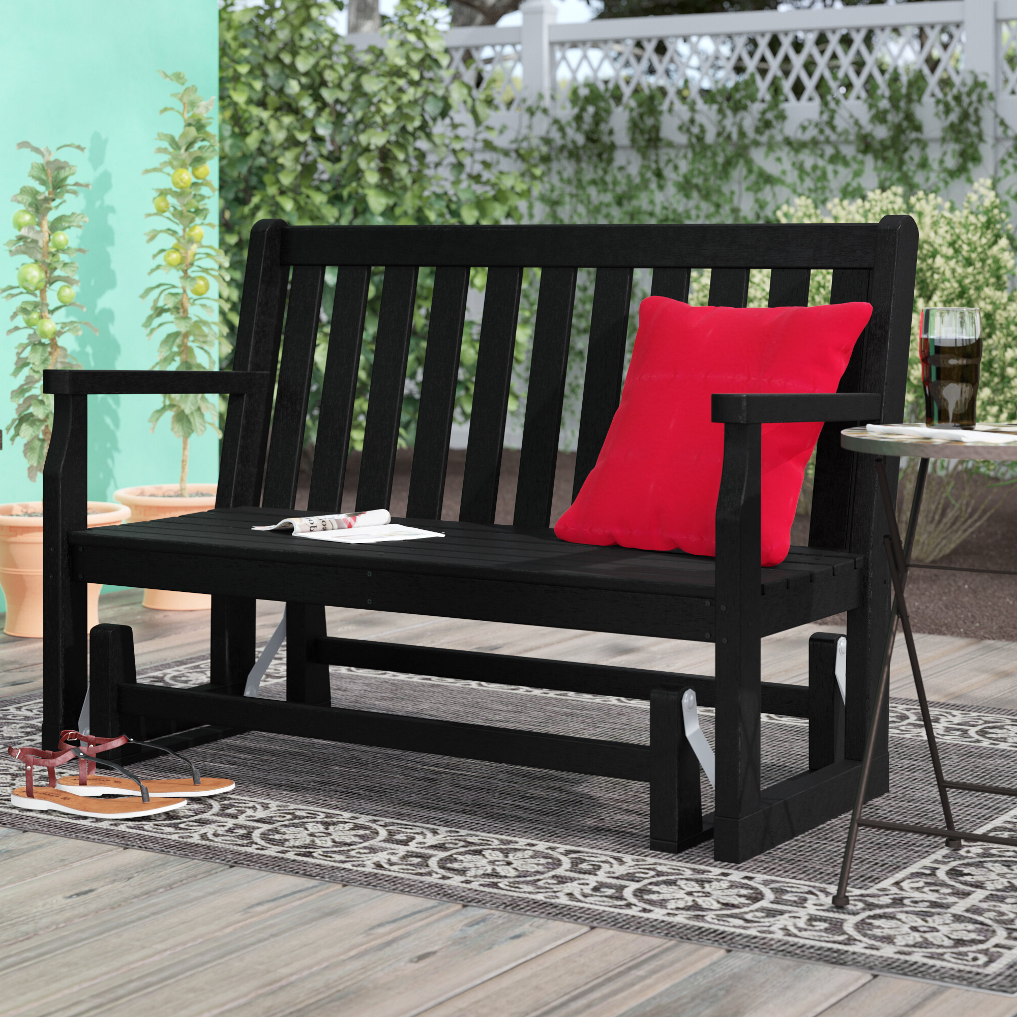 Most Popular Glider Outdoor Benches You'll Love In (View 5 of 30)
