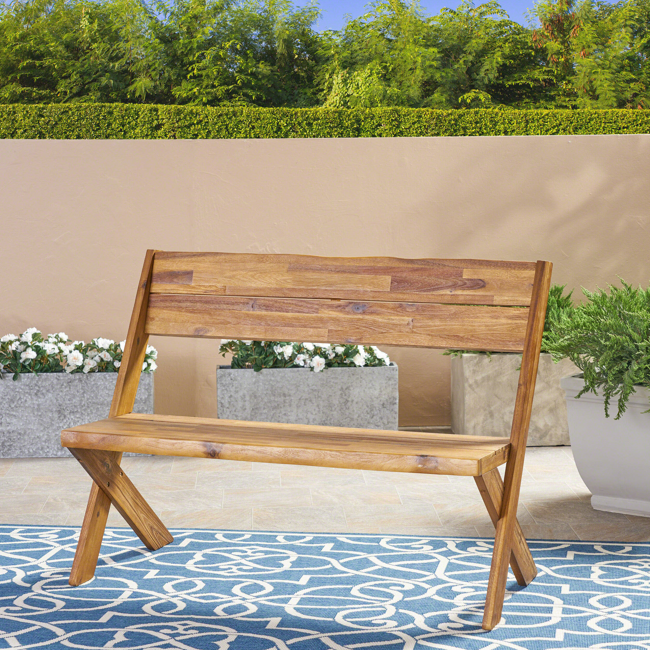 Most Popular Guyapi Garden Benches Pertaining To Heatherfield Bench (View 9 of 30)
