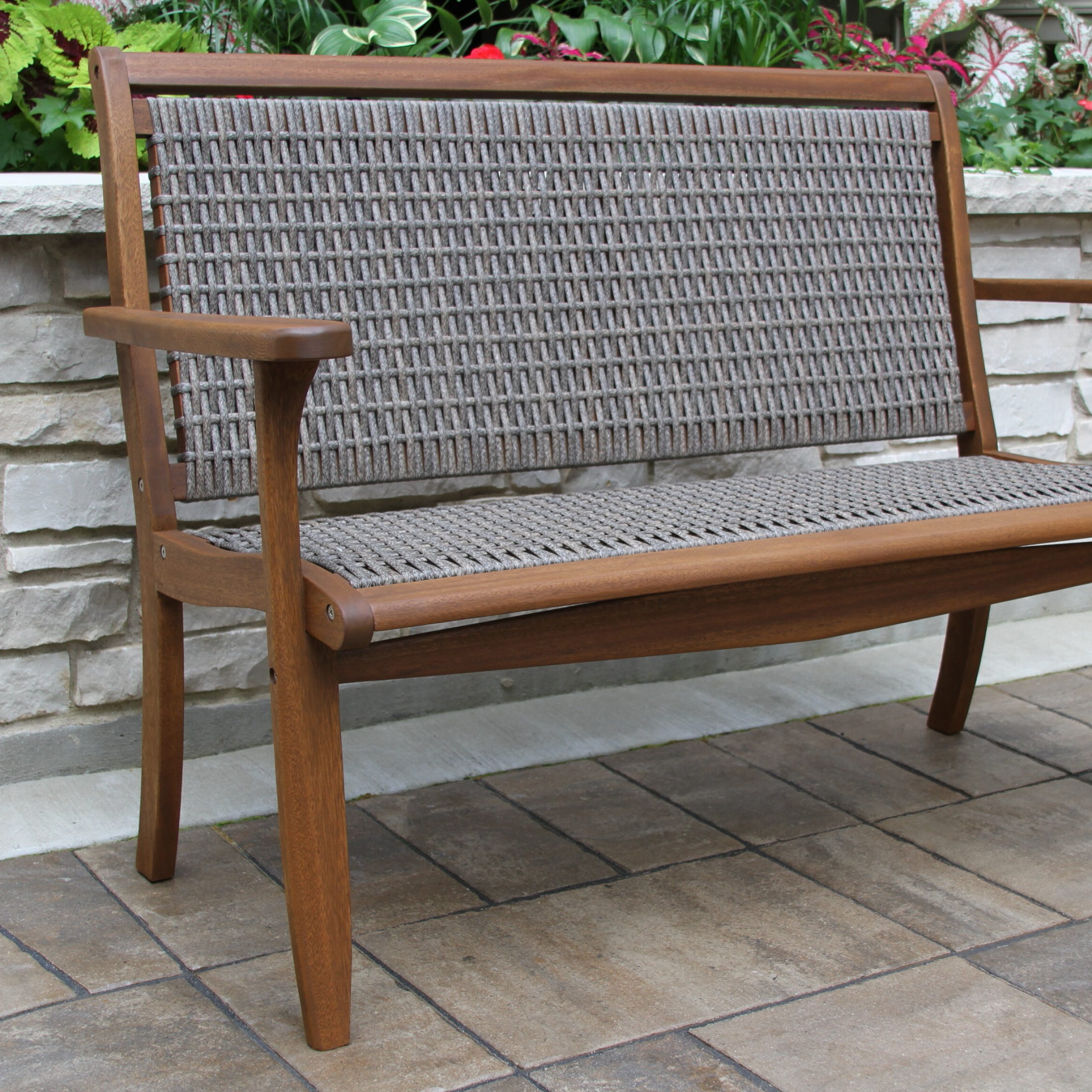 Most Popular Liya Garden Bench Inside Shelbie Wooden Garden Benches (View 13 of 30)