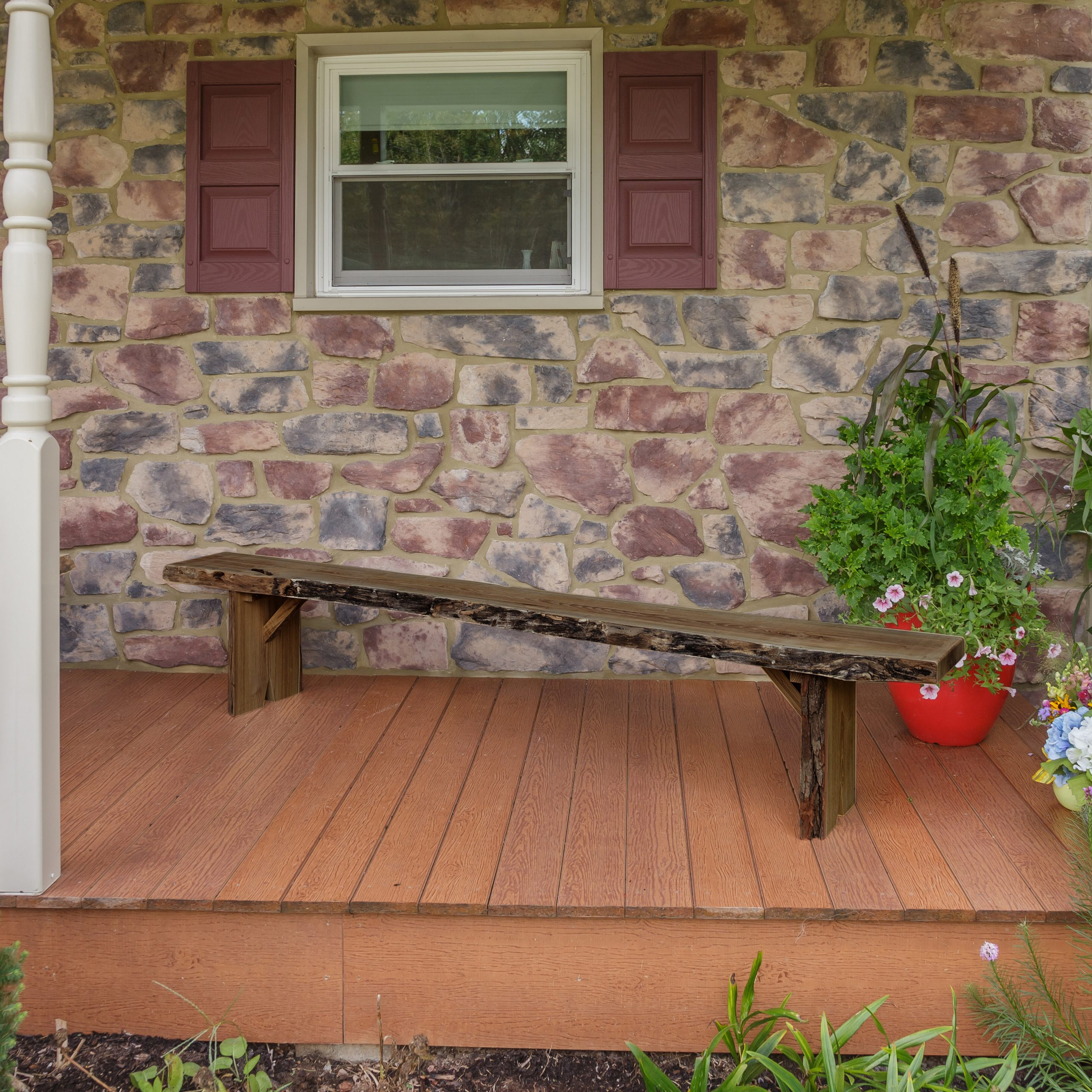 Most Popular Loon Peak® Bruggeman Live Edge Solid Wood Garden Bench & Reviews In Lucille Timberland Wooden Garden Benches (View 9 of 30)