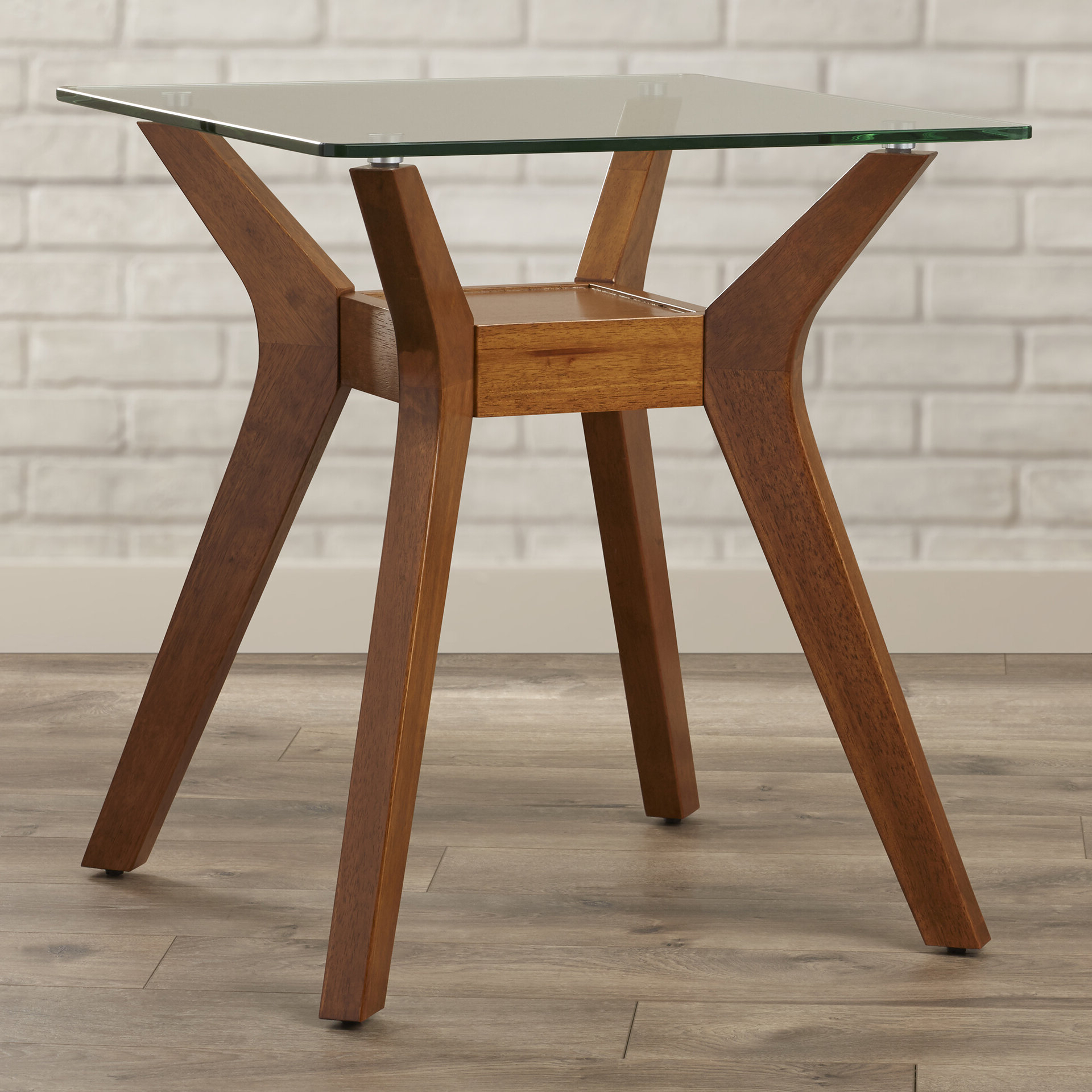 Most Popular Maliyah Glass Top End Table With Storage For Maliyah Wooden Garden Benches (View 18 of 30)