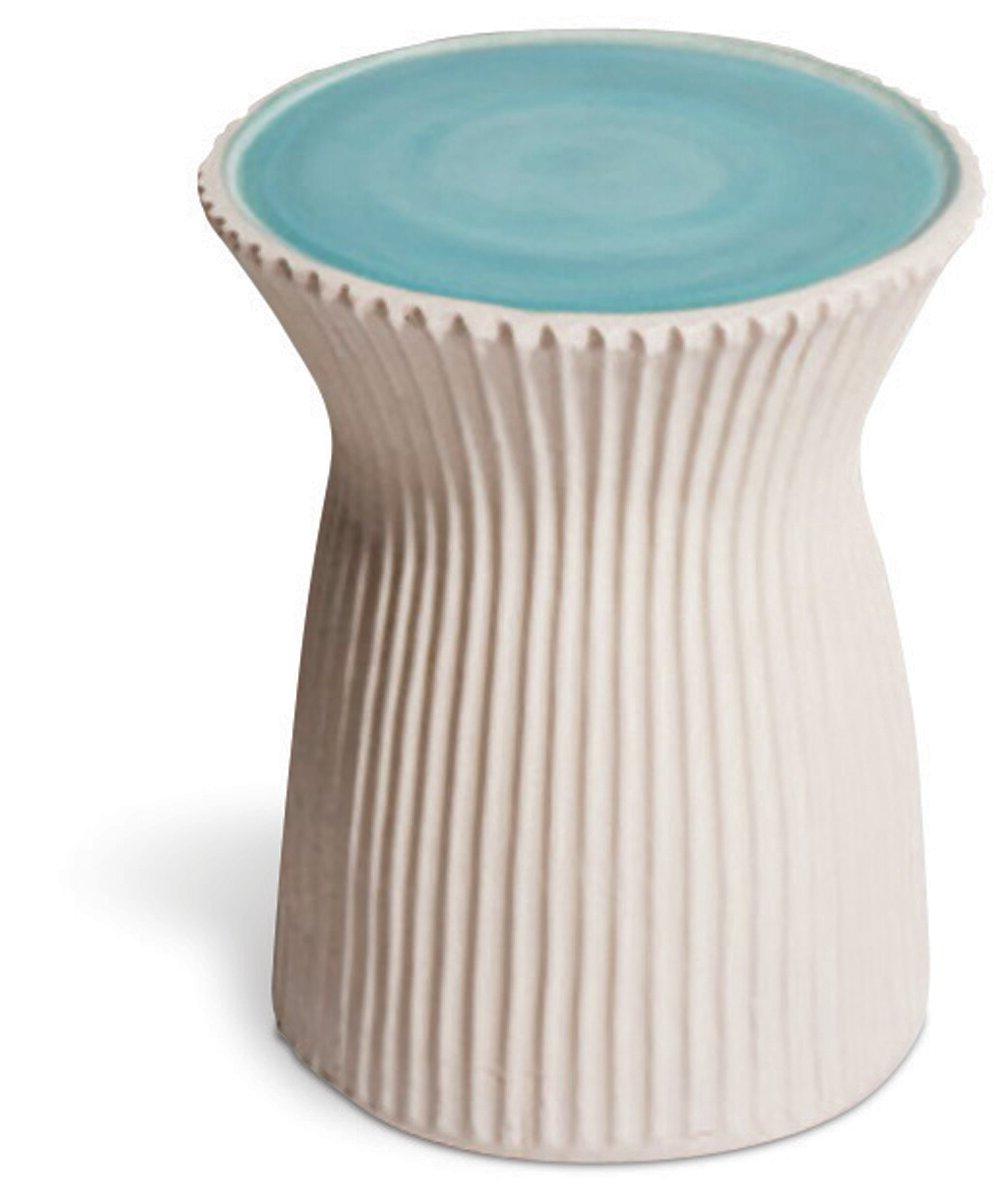 Most Popular Ridged Ceramic Accent Stool Pertaining To Arista Ceramic Garden Stools (View 7 of 30)