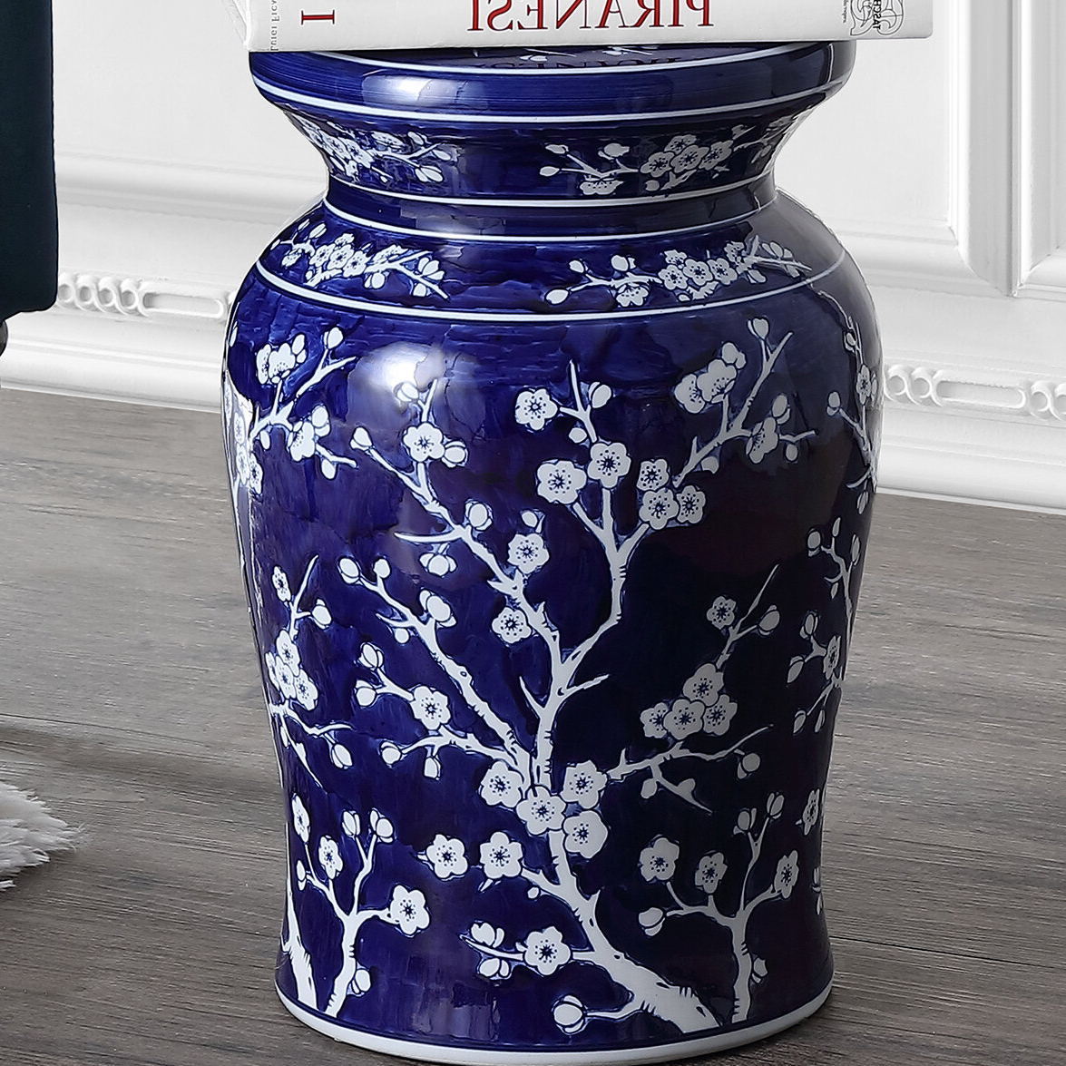 Most Popular Wiese Cherry Blossom Ceramic Garden Stools For Williar Cherry Blossom Ceramic Garden Stool (View 3 of 30)