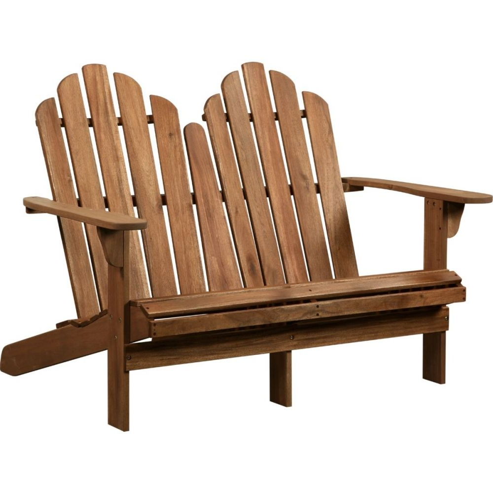 Most Recent Adirondack Double Bench – Linon 21158t36 01 Kd U In 2020 Within Guyapi Garden Benches (View 22 of 30)