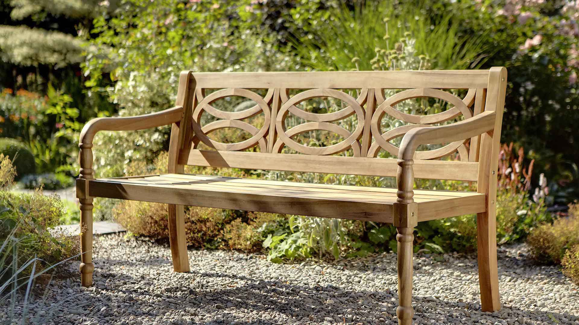 Most Recent Amabel Patio Diamond Wooden Garden Benches Intended For Cleobury 3 Seat Bench – Cleobury – Wood Garden Furniture (View 20 of 30)