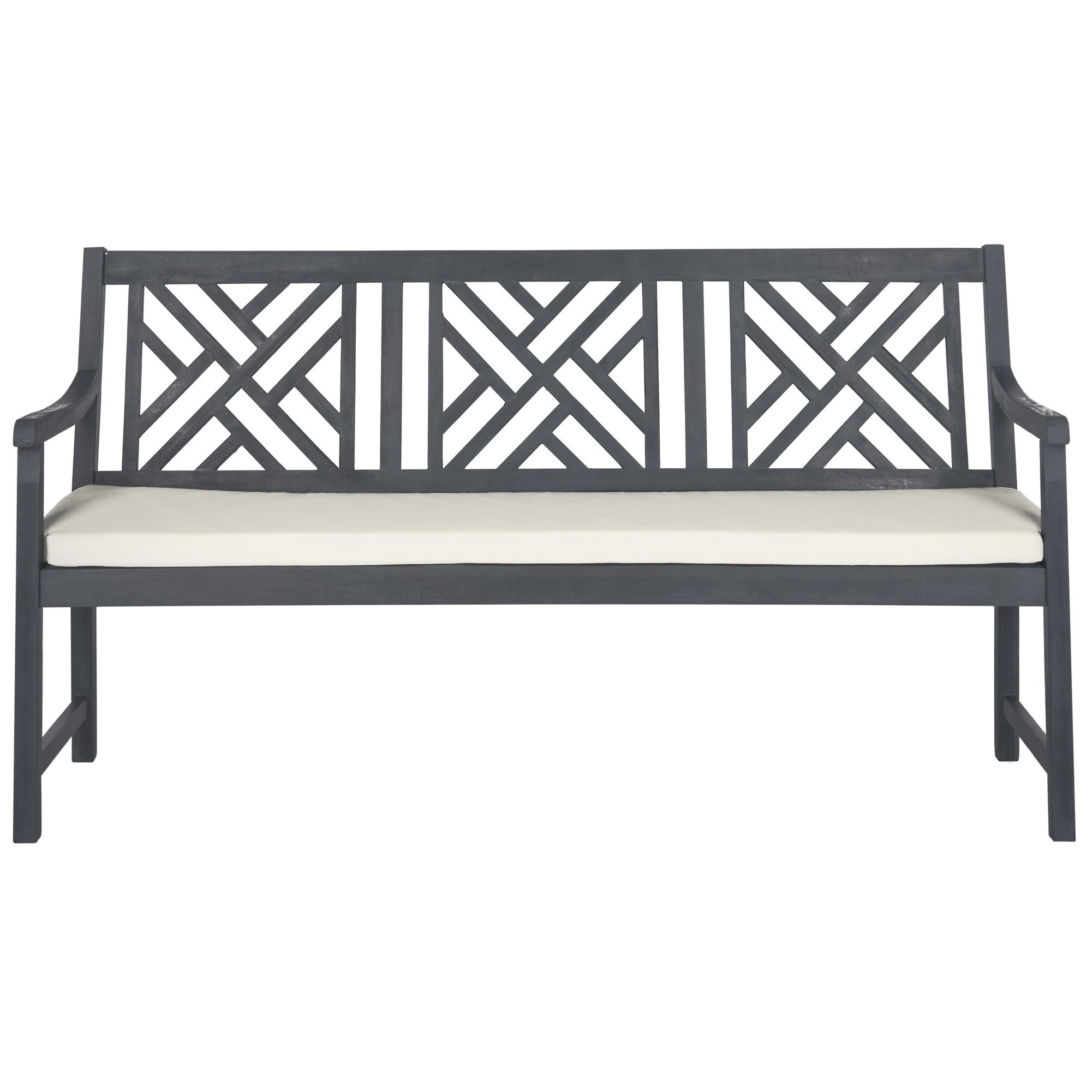 Most Recent Krystal Ergonomic Metal Garden Benches With Regard To With Arms Outdoor Benches You'll Love In  (View 7 of 30)