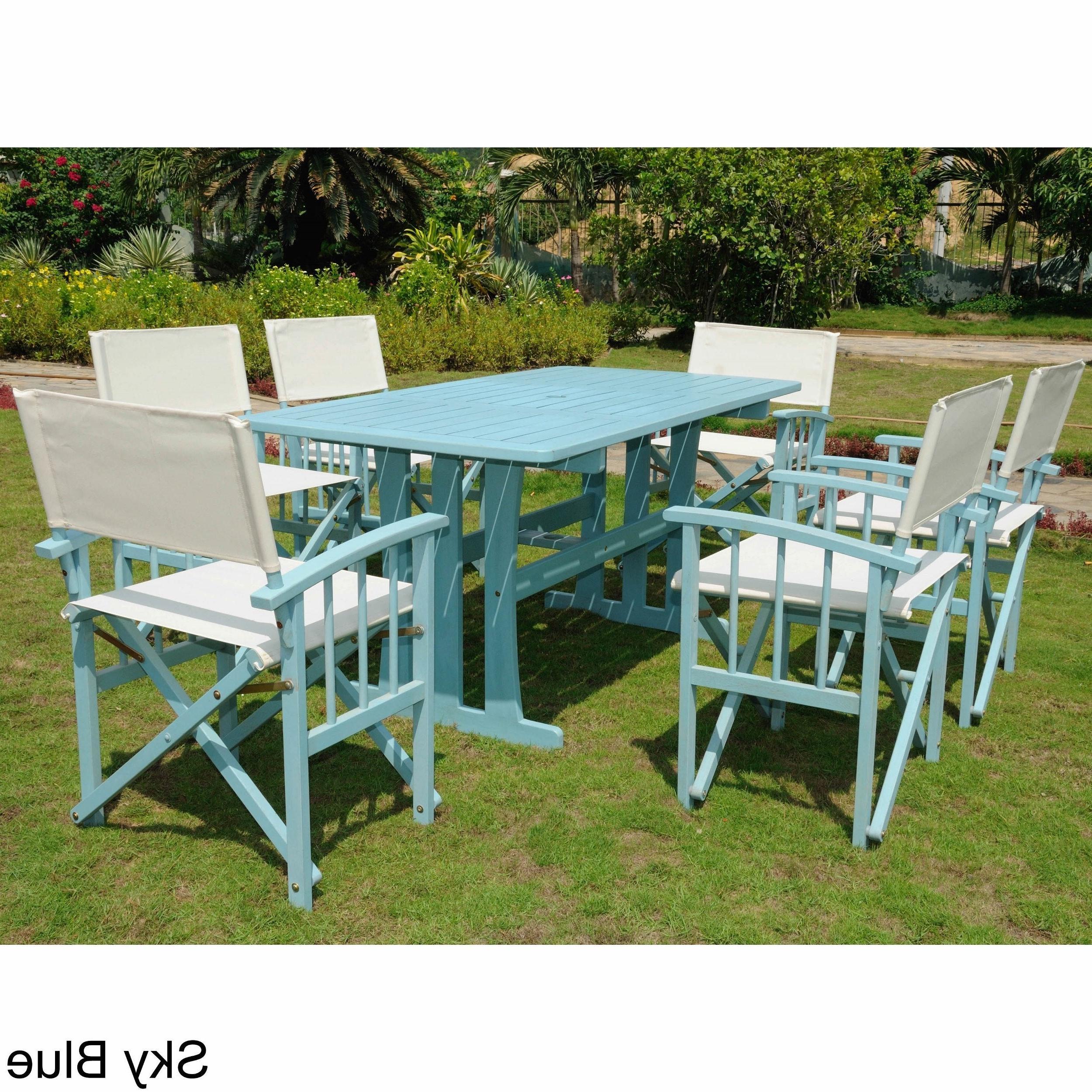 Most Recent Messina Garden Stools Set (set Of 2) Regarding International Caravan Messina Acacia Hardwood Outdoor 7 Piece Dining Set (View 4 of 30)