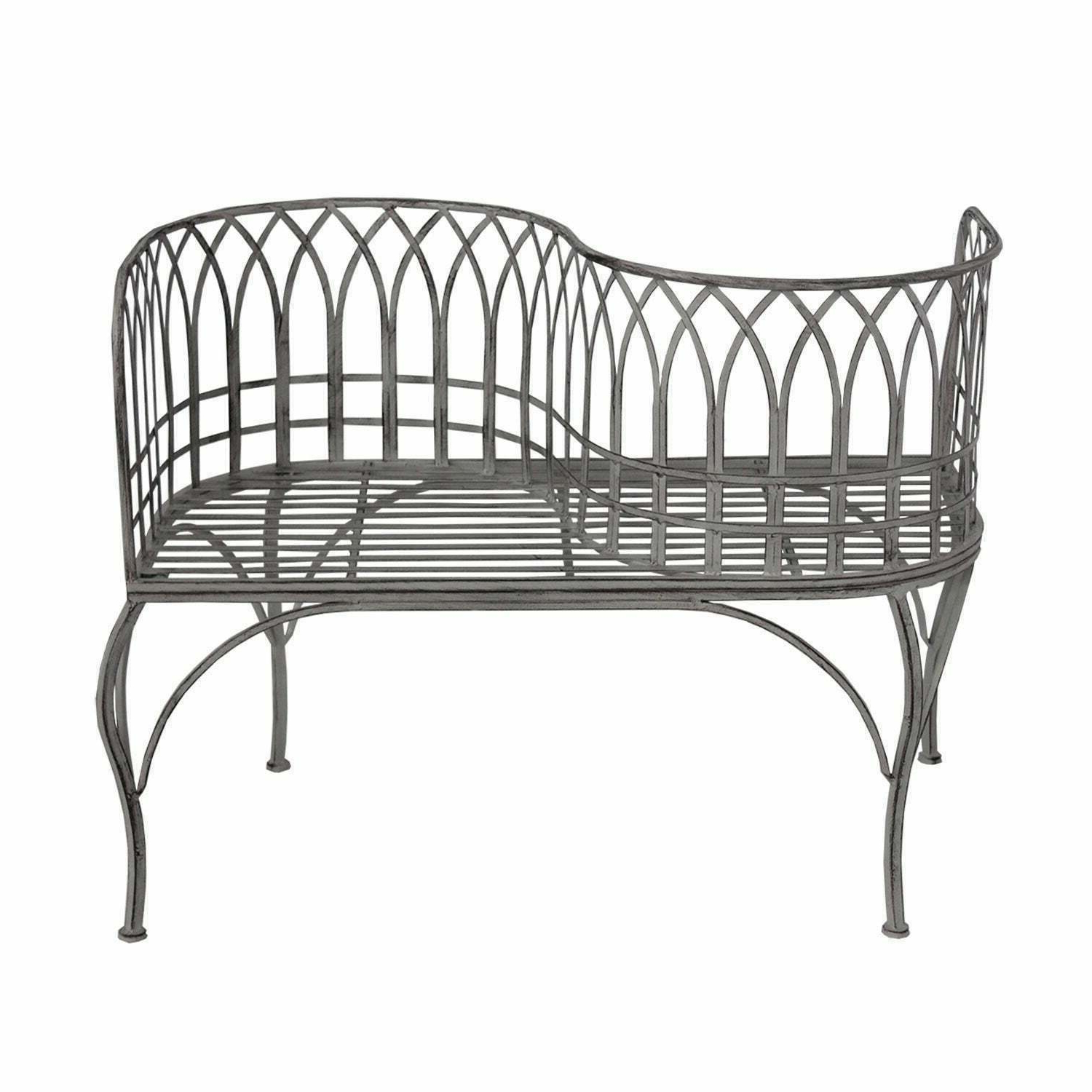 Most Recent Metal Kissing Bench Curved Tete A Tete Garden Chair French Country Vintage Seat With Wicker Tete A Tete Benches (View 22 of 30)