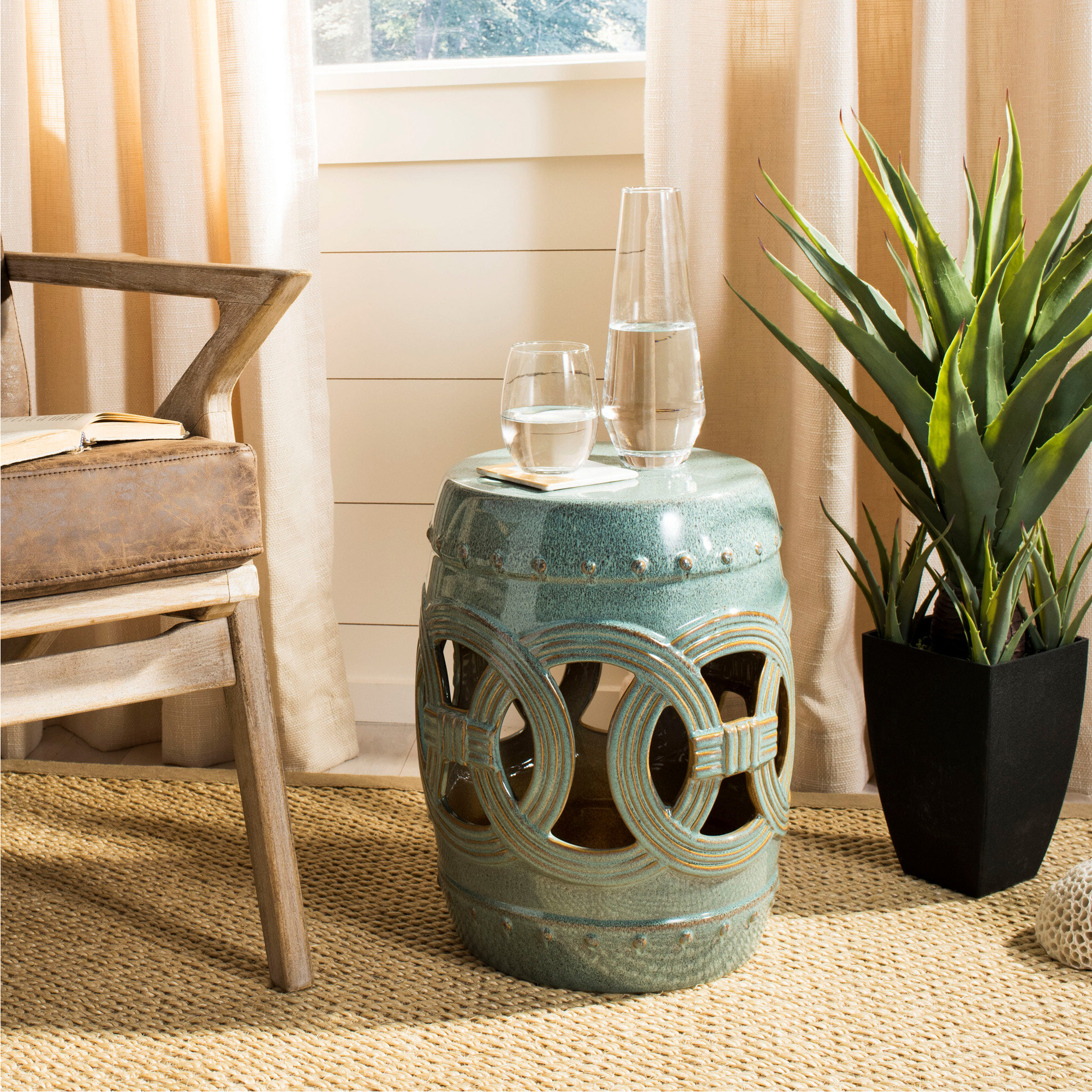 Most Recently Released Blue Garden Accent Stools You'll Love In (View 8 of 30)