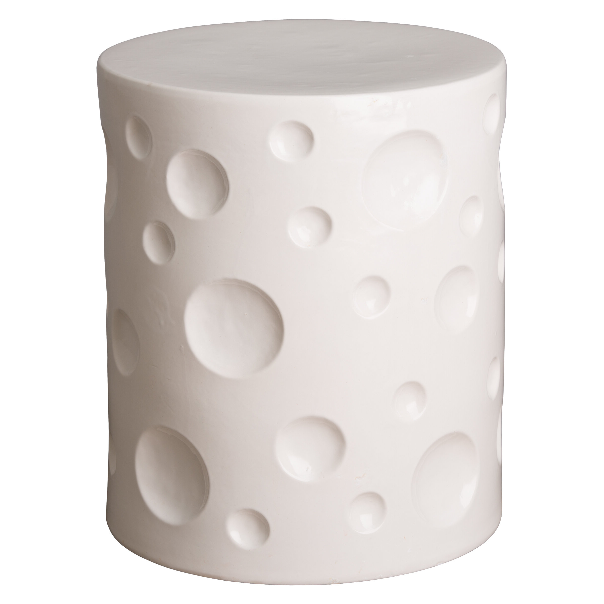 Most Recently Released Chauvigny Crater Garden Stool Inside Jadiel Ceramic Garden Stools (View 21 of 30)