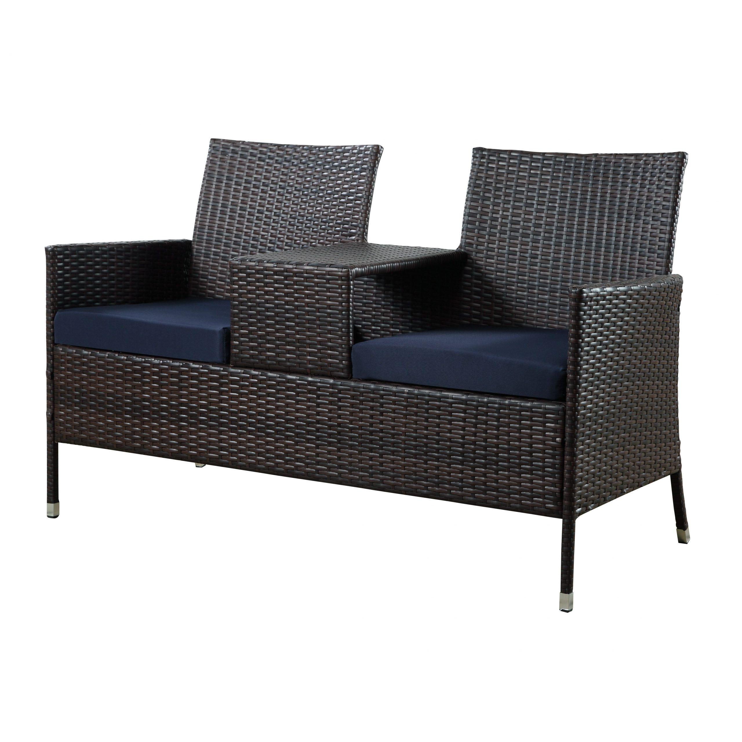 Most Recently Released Dhi Seaside Steel/resin Wicker Tete A Tete Bench (View 8 of 30)