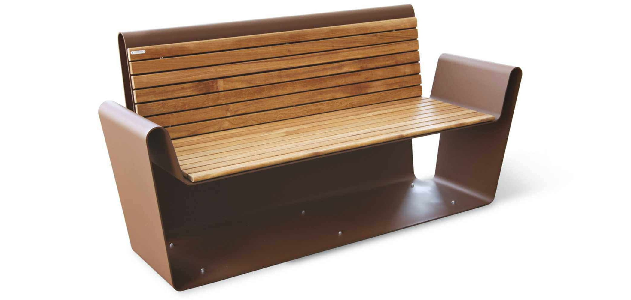Most Recently Released Krystal Ergonomic Metal Garden Benches Intended For Public Bench / Contemporary / Stainless Steel / Modular (View 16 of 30)