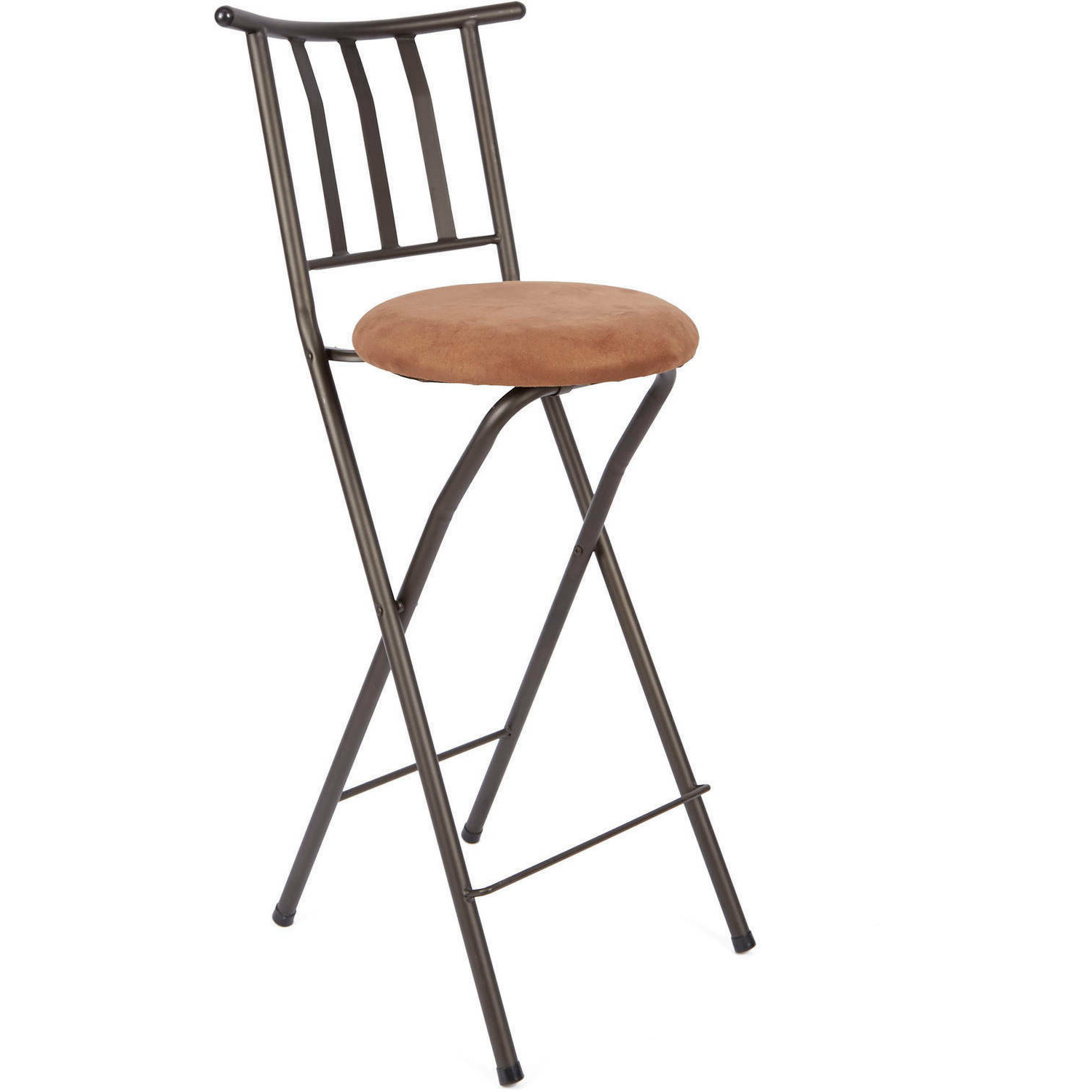 "Most Recently Released Tillia Ceramic Garden Stools With Regard To Mainstays Slat Back Folding 30"" Bronze Bar Stool Multiple Colors (View 9 of 30)"