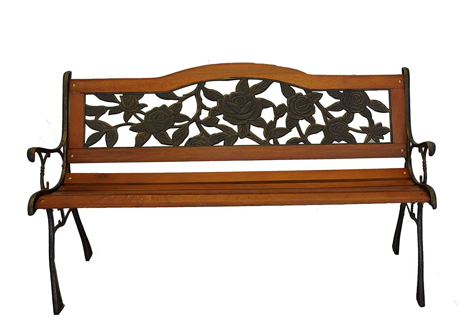 Most Up To Date Blooming Iron Garden Benches For Piersurplus Rose Bloom Cast Iron Park Bench W/resin Back (View 28 of 30)