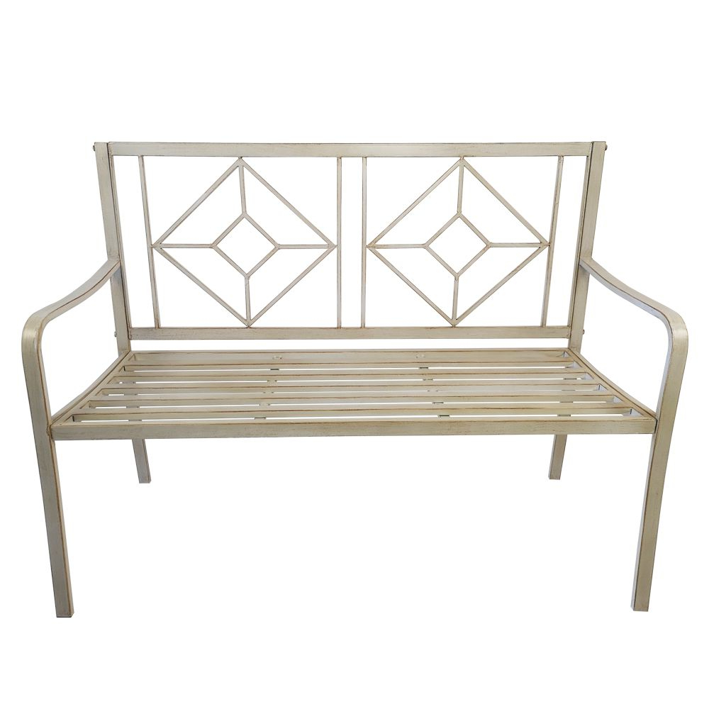 """Most Up To Date Gabbert Wooden Garden Benches With 48"""" Patio Garden Bench Park Yard Outdoor Furniture Steel (View 15 of 30)"""