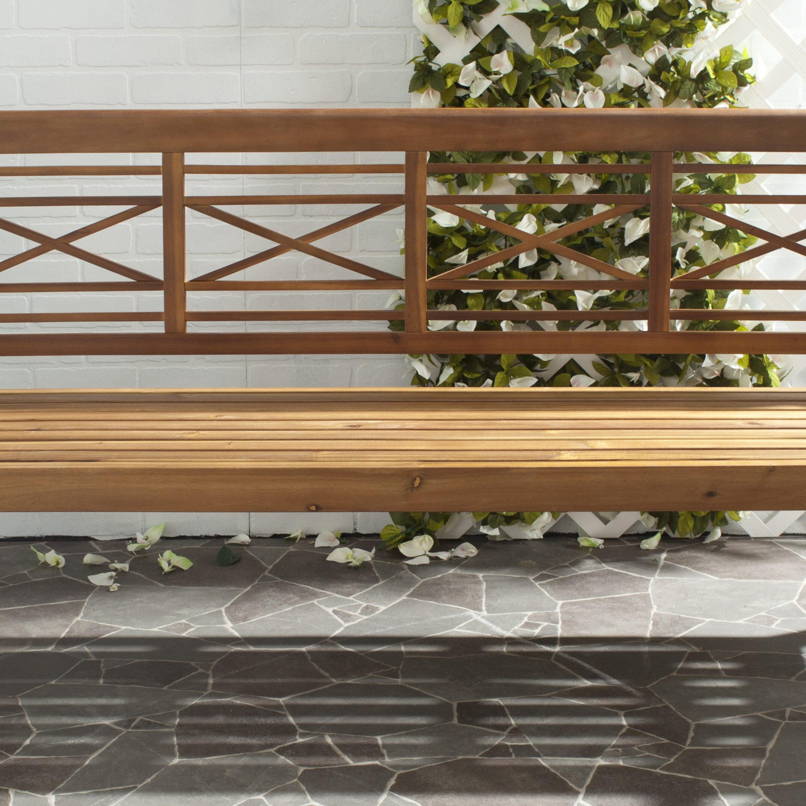 Most Up To Date Leora Wooden Garden Benches With Putnam Wooden Garden Bench (View 10 of 30)